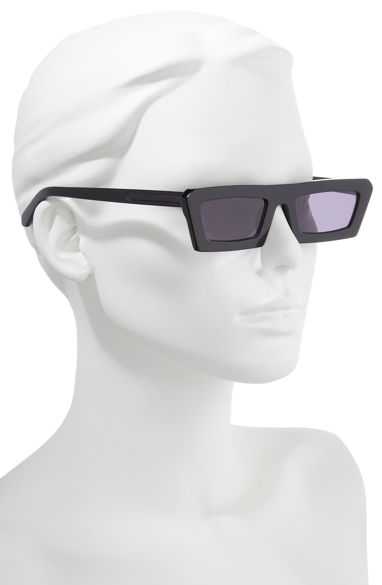 Shipwrecks 52mm Square Sunglasses,                             Alternate thumbnail 2, color,                             BLACK/ SMOKE