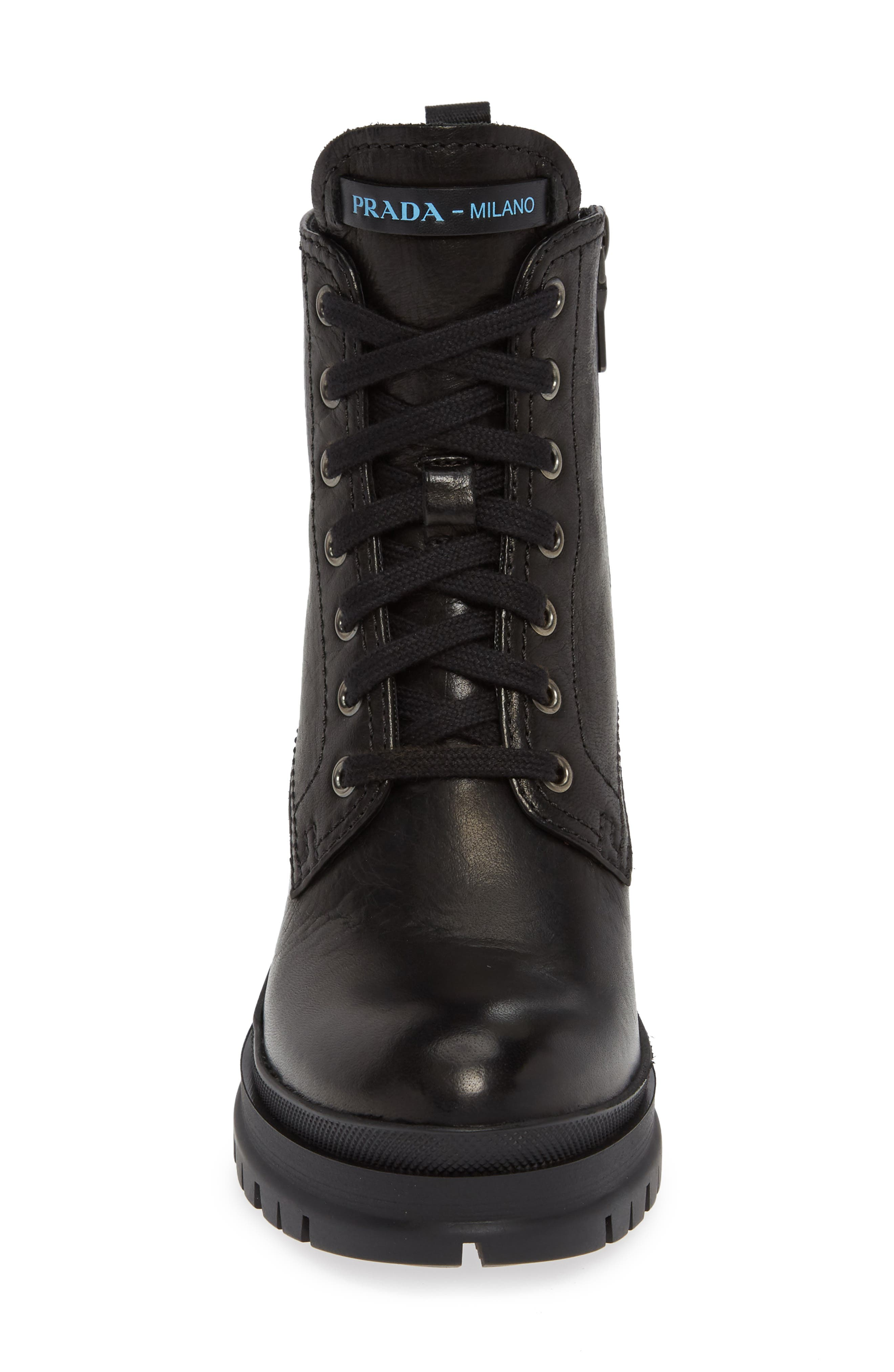 Block Heel Combat Boot,                             Alternate thumbnail 4, color,