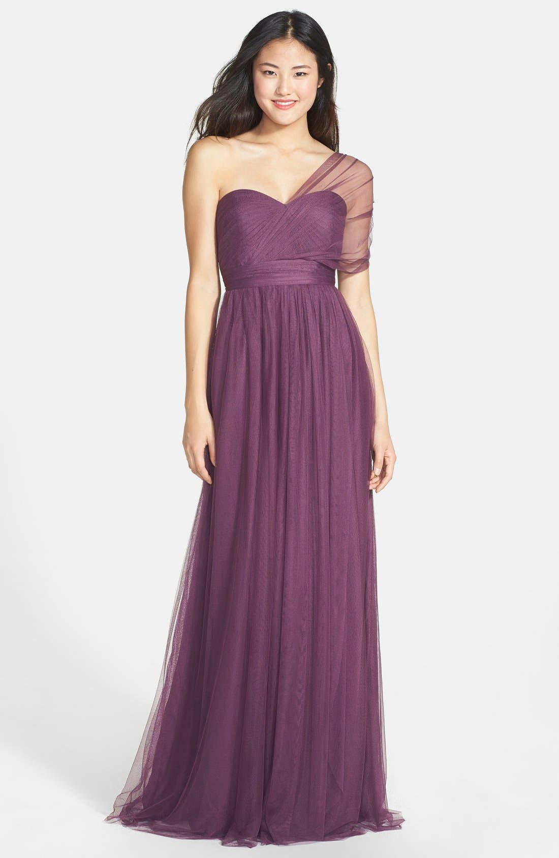 Annabelle Convertible Tulle Column Dress,                             Alternate thumbnail 185, color,