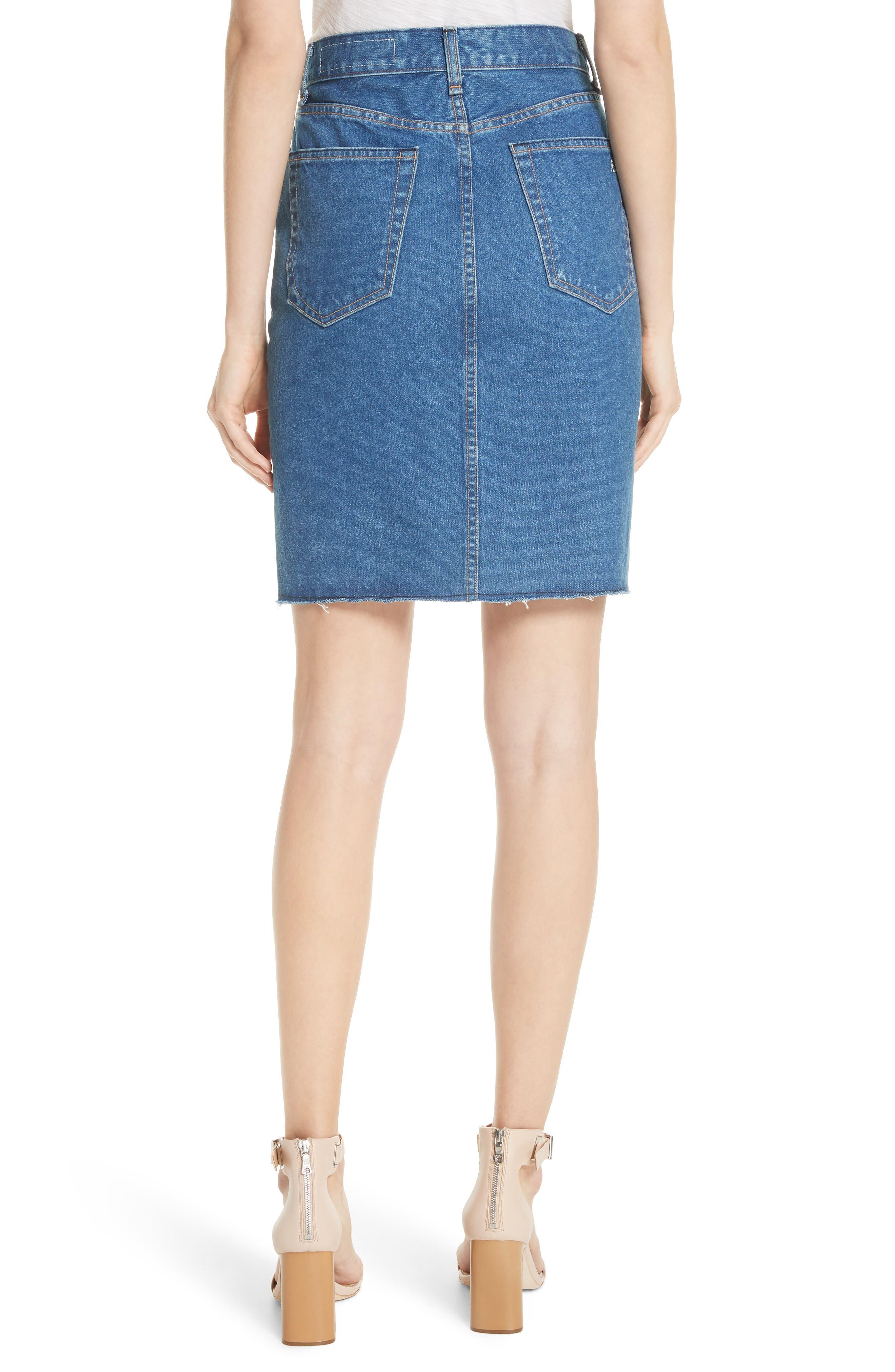 Suji Denim Skirt,                             Alternate thumbnail 2, color,                             401