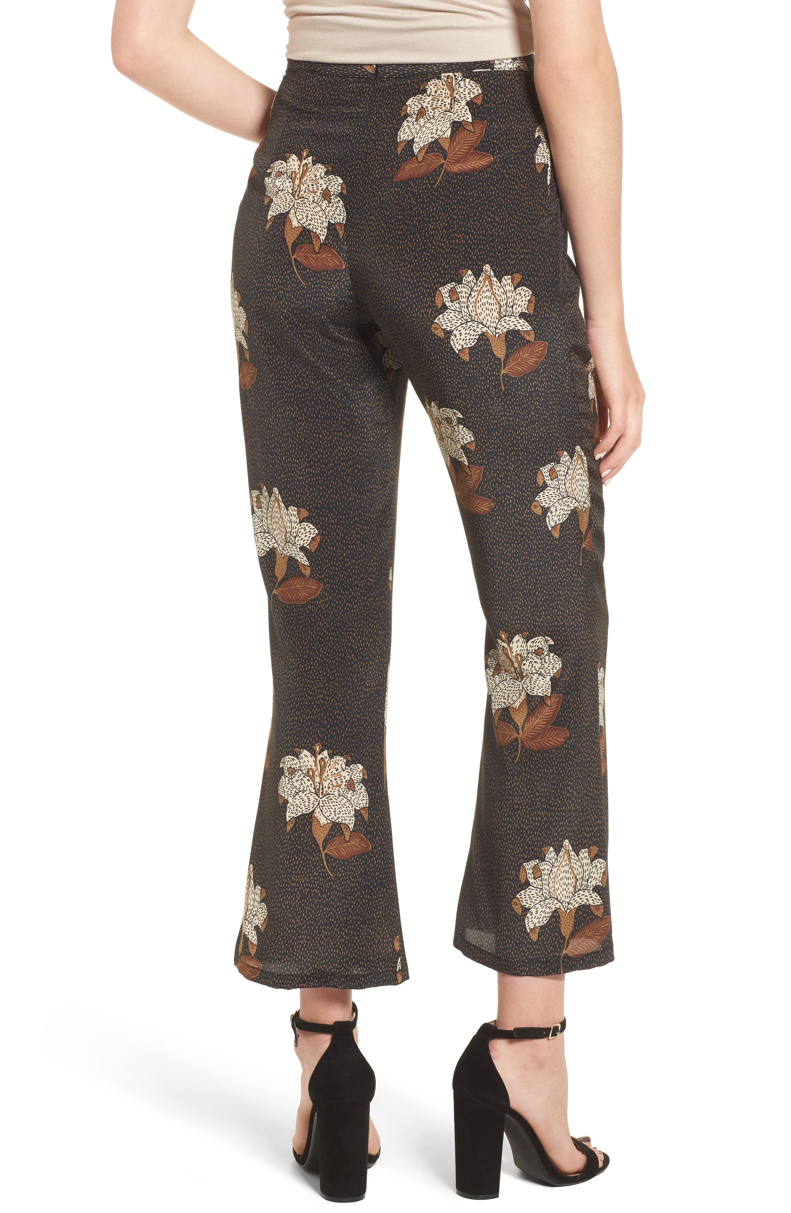 Isla Silk Crop Pants,                             Alternate thumbnail 3, color,