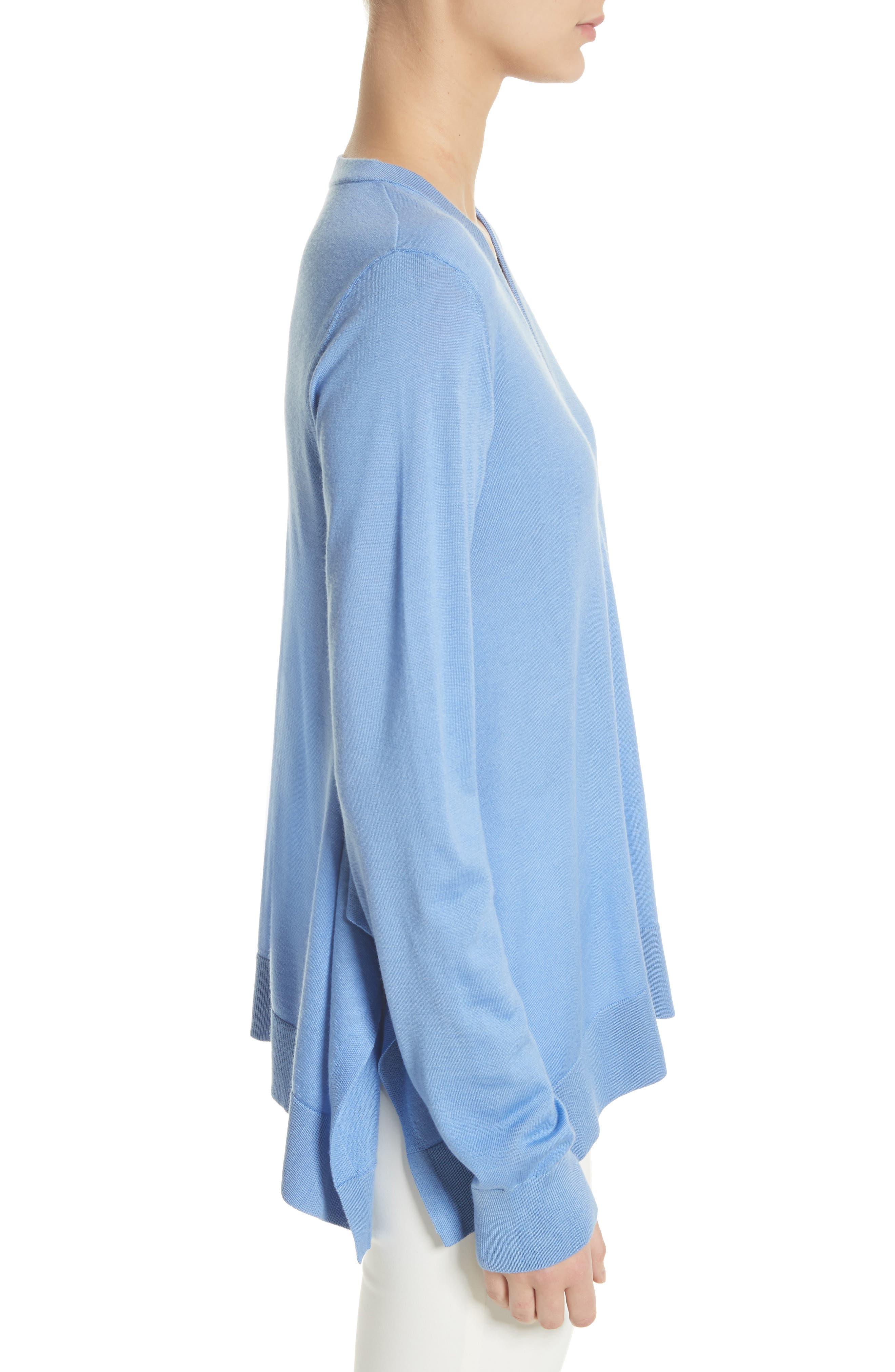 Draped Wool, Silk & Cashmere Sweater,                             Alternate thumbnail 6, color,