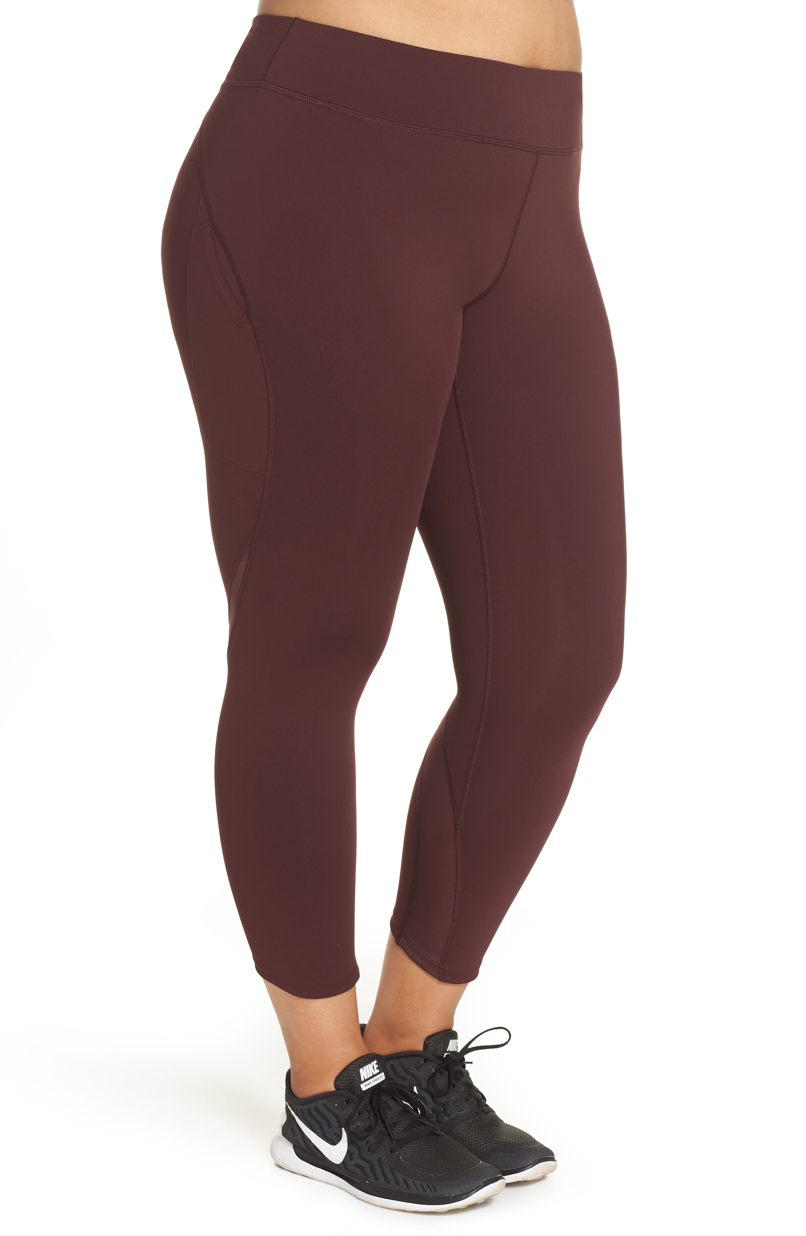 Power Epic Lux Crop Running Tights,                             Alternate thumbnail 9, color,