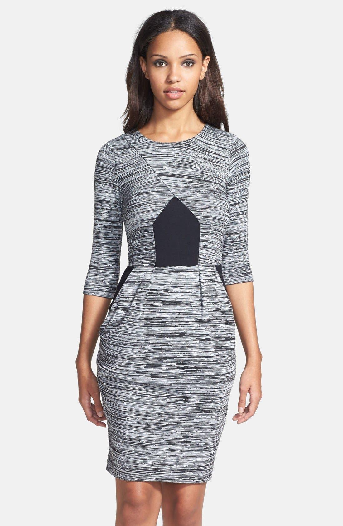 'Fast City' Space Dye Sheath Dress,                             Main thumbnail 1, color,                             069