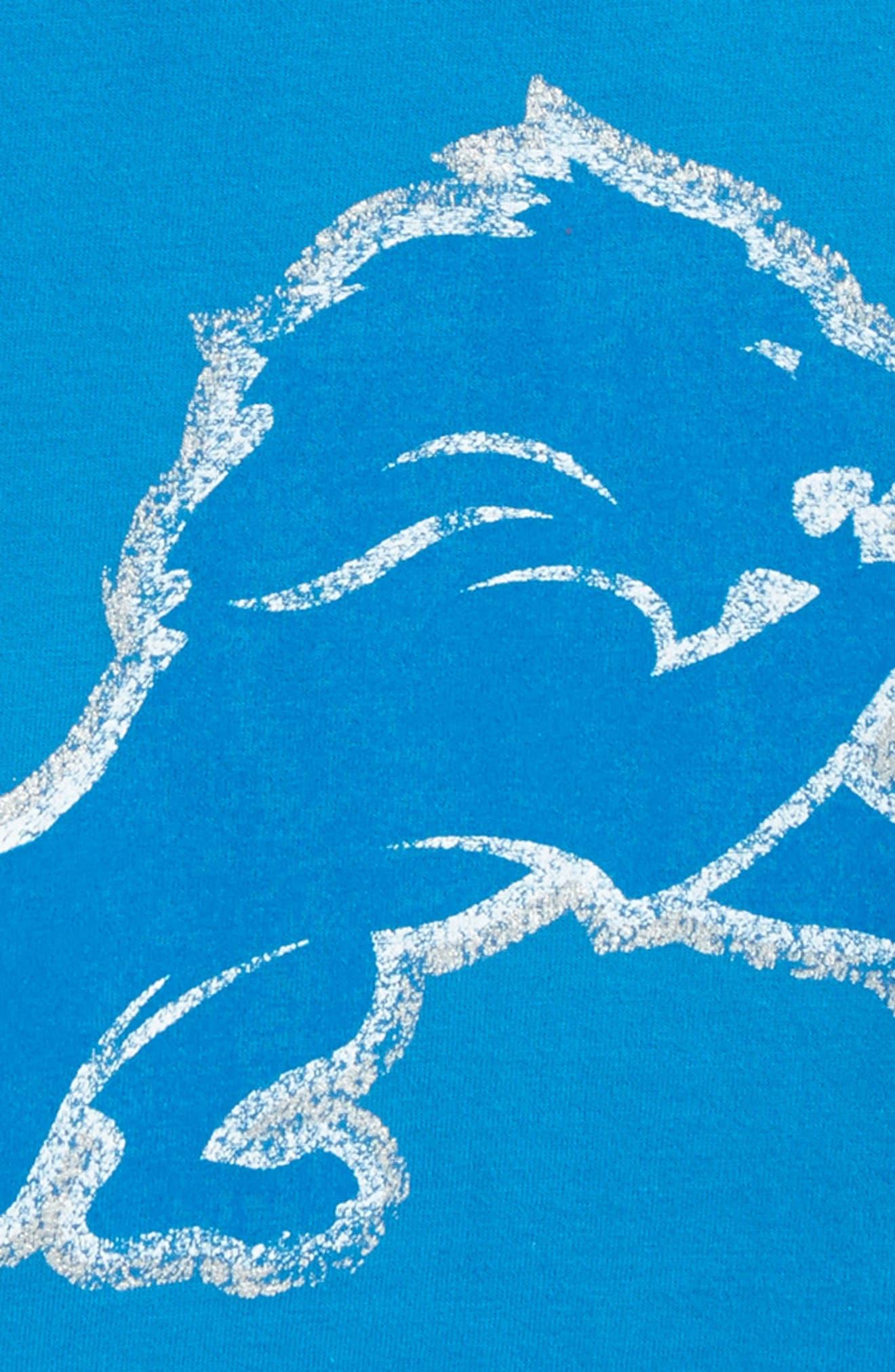 NFL Logo - Detroit Lions Distressed Logo T-Shirt,                             Alternate thumbnail 2, color,