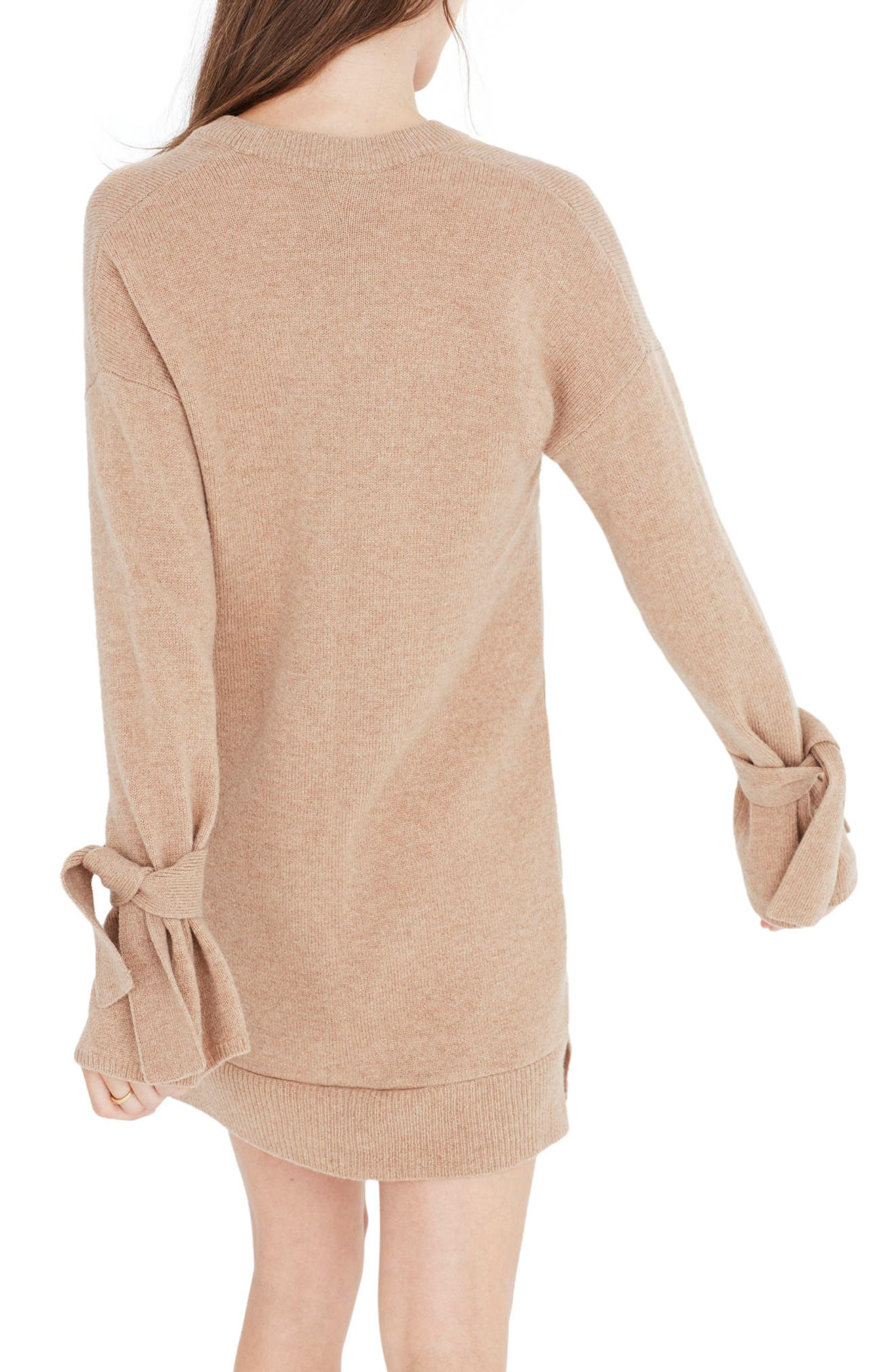 Tie Cuff Sweater Dress,                             Main thumbnail 2, color,