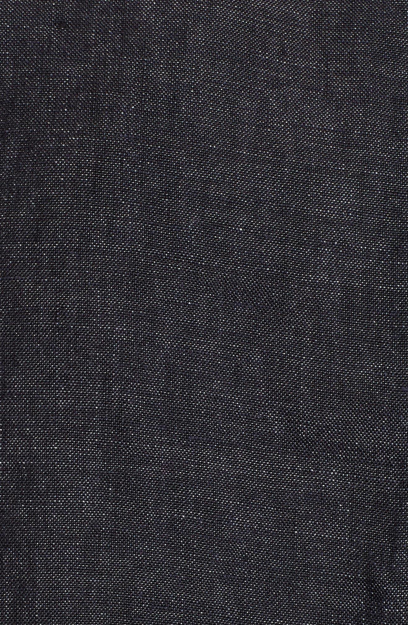Short Sleeve Organic Linen Flutter Top,                             Alternate thumbnail 6, color,                             080