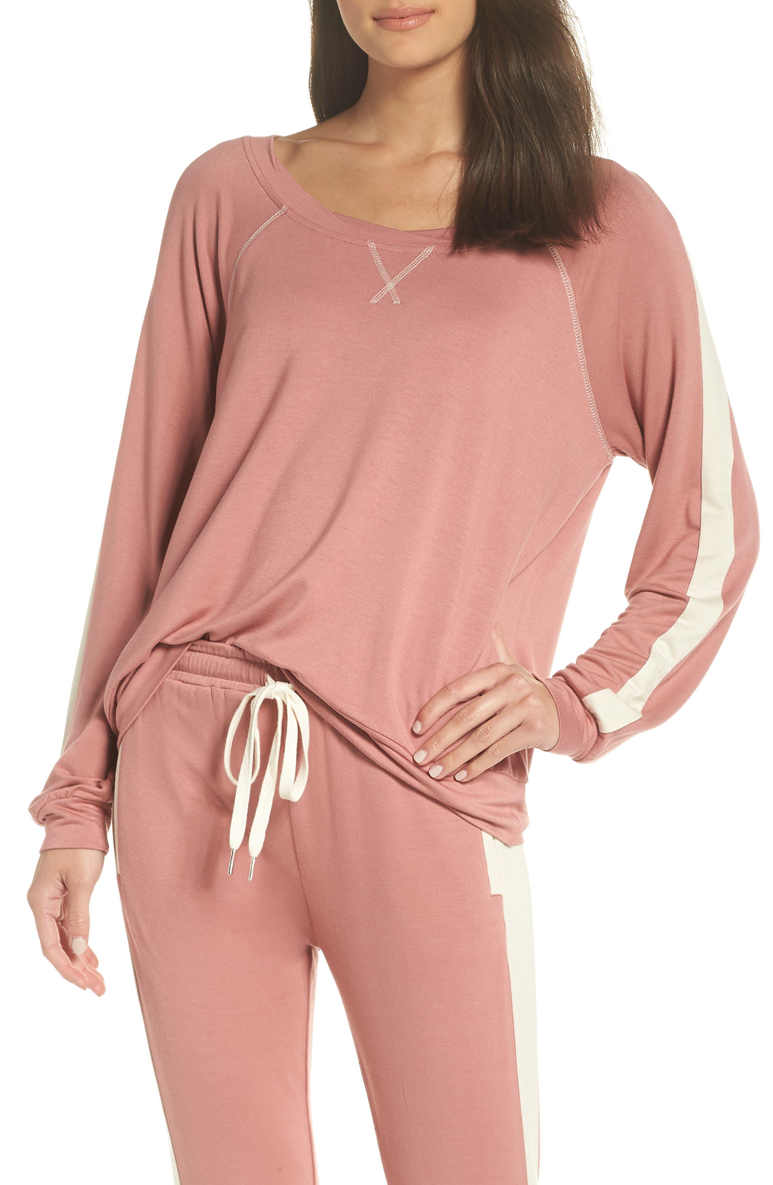 Elevens Sweatshirt,                         Main,                         color, MAUVE/ SAND