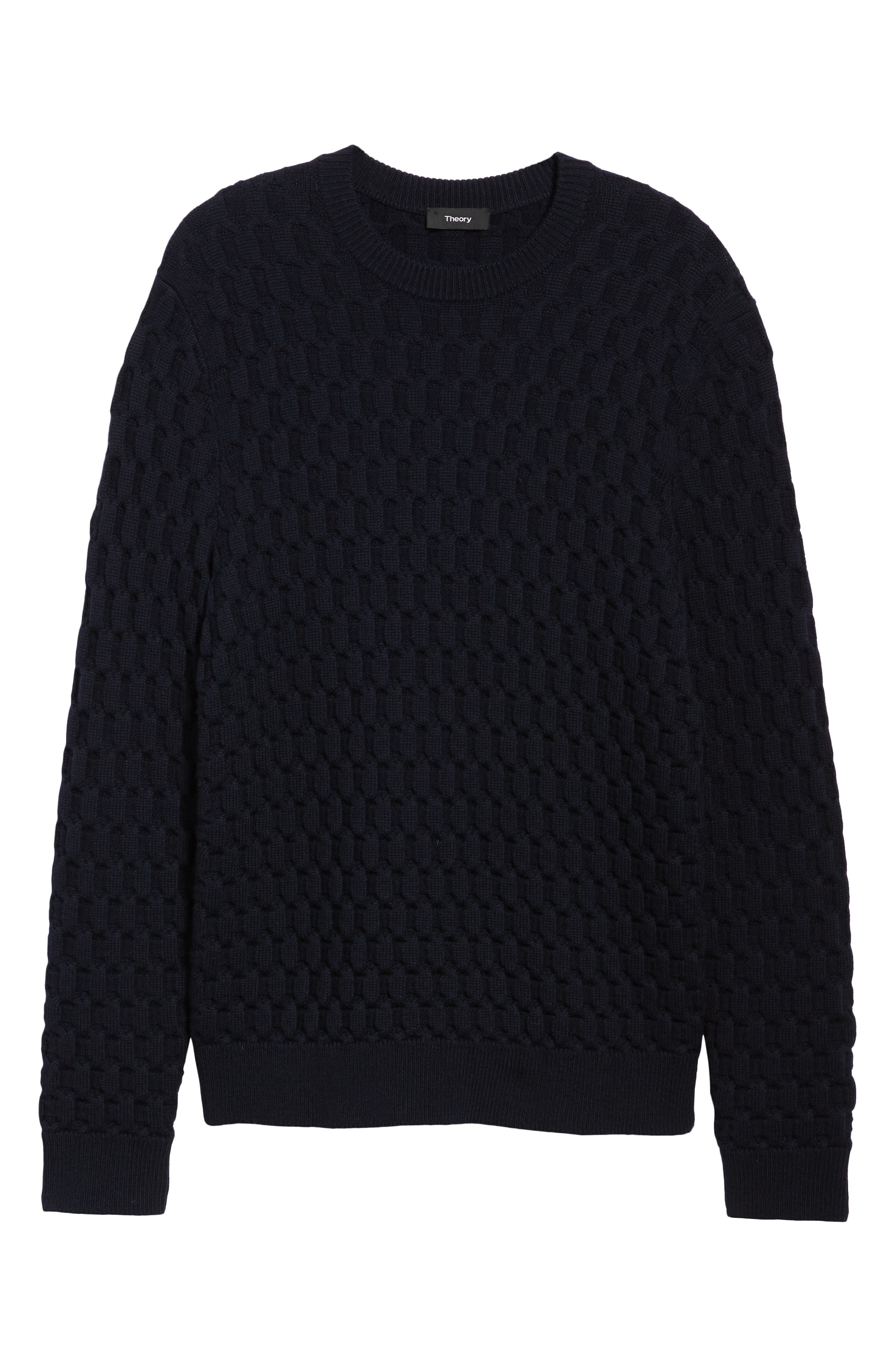 Marcos Honeycomb Merino Wool Sweater,                             Alternate thumbnail 3, color,                             ECLIPSE