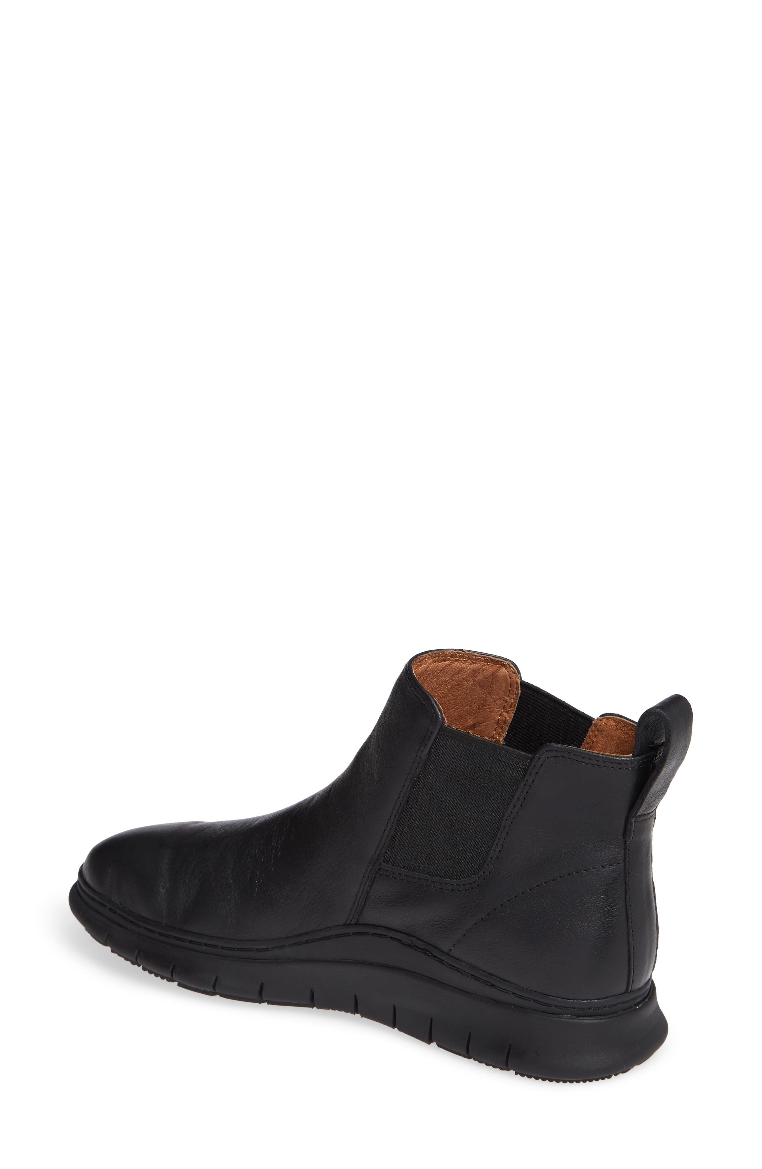 Kaufman Sneaker,                             Alternate thumbnail 2, color,                             BLACK LEATHER