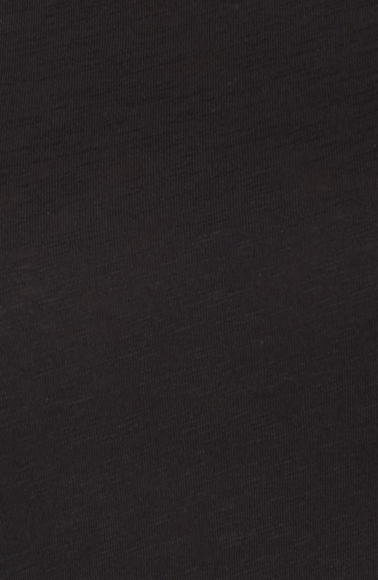 CASLON<SUP>®</SUP>,                             Pleat Sleeve Cotton Tee,                             Alternate thumbnail 5, color,                             001