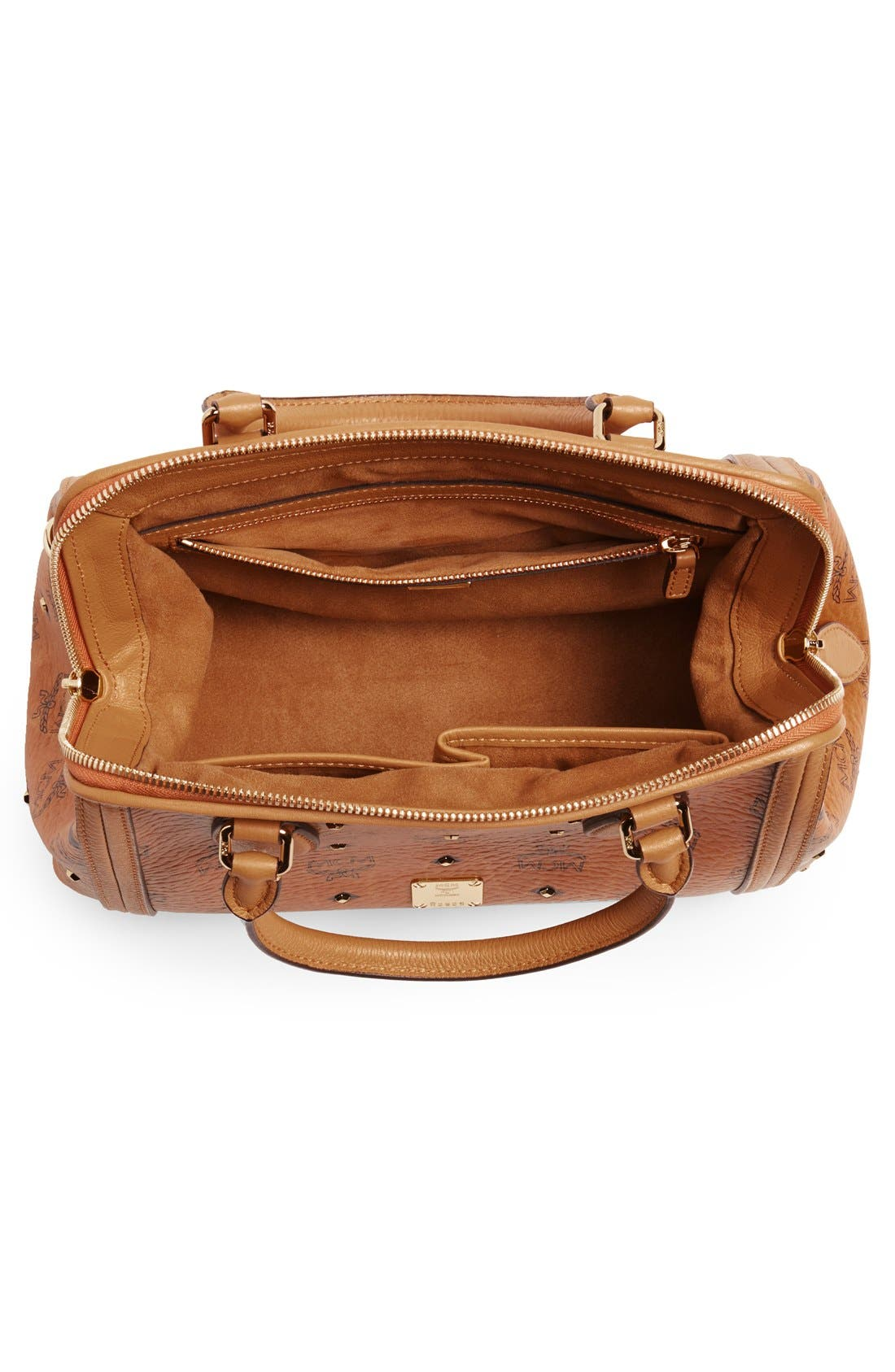 'Small Gold Visetos' Studded Doctor Bag,                             Alternate thumbnail 4, color,                             200