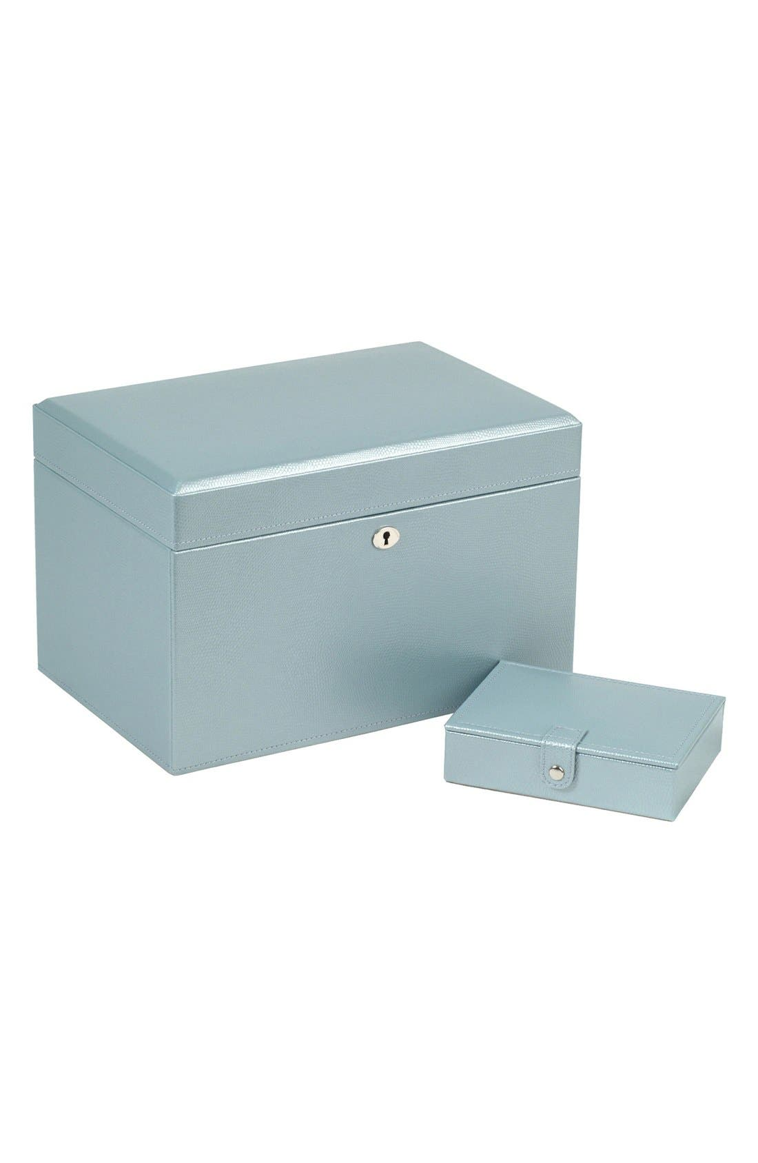 London Medium Jewelry Box,                             Main thumbnail 1, color,                             ICE BLUE