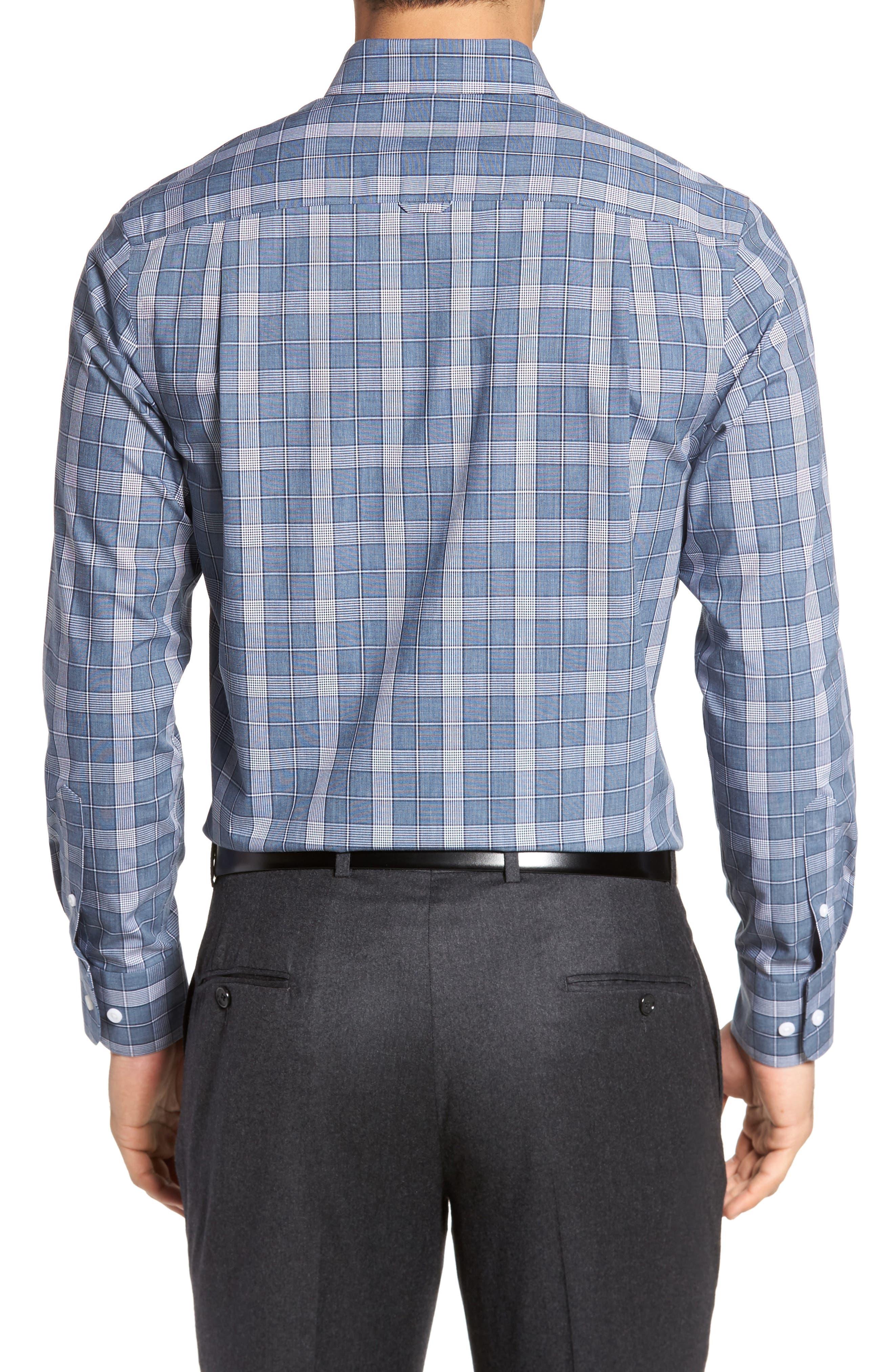 Smartcare<sup>™</sup> Regular Fit Plaid Sport Shirt,                             Alternate thumbnail 13, color,