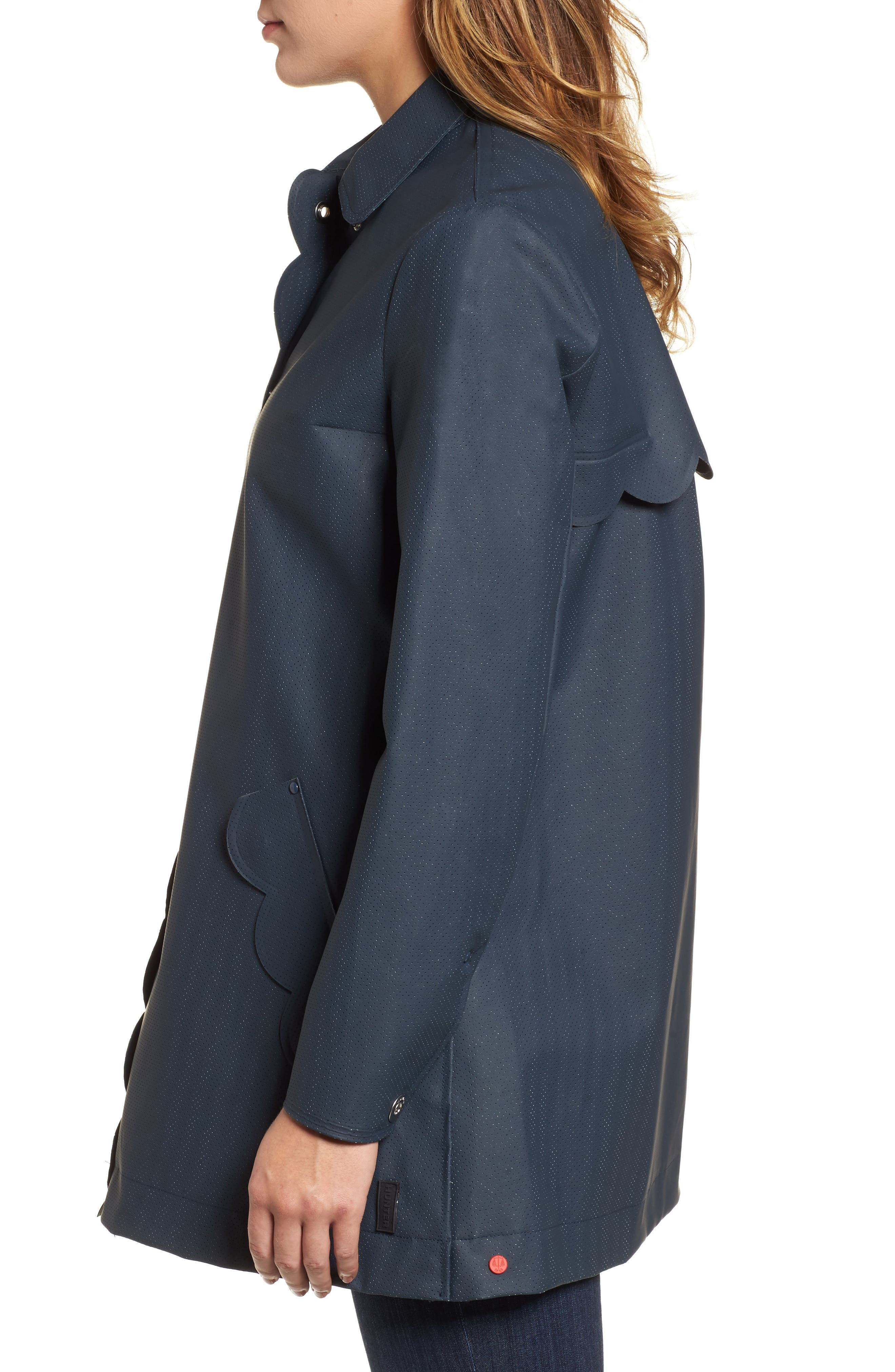 Refined Perforated A-Line Coat,                             Alternate thumbnail 3, color,                             410