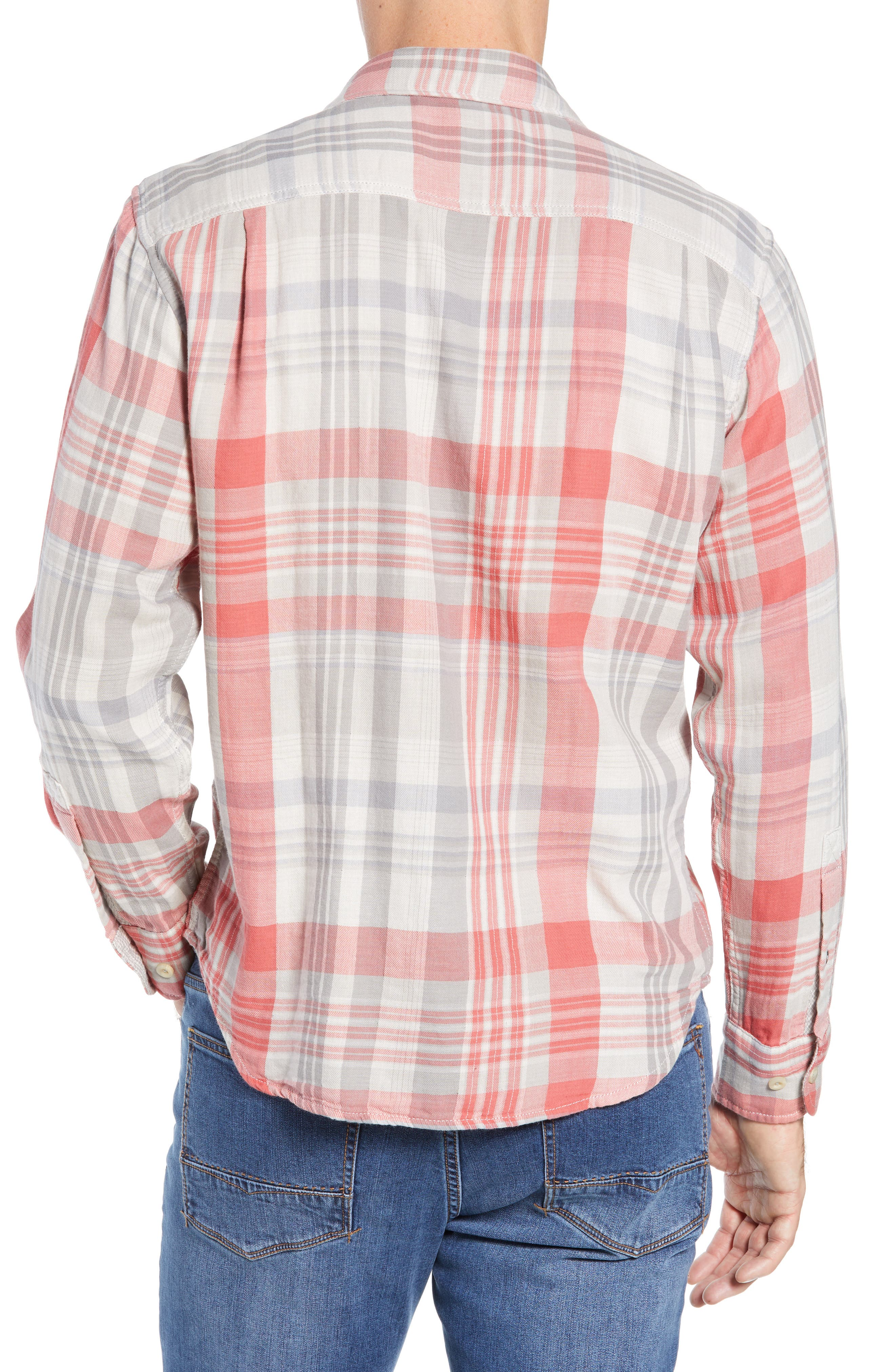 Monteverde Madras Regular Fit Shirt,                             Alternate thumbnail 3, color,                             POINCIANA