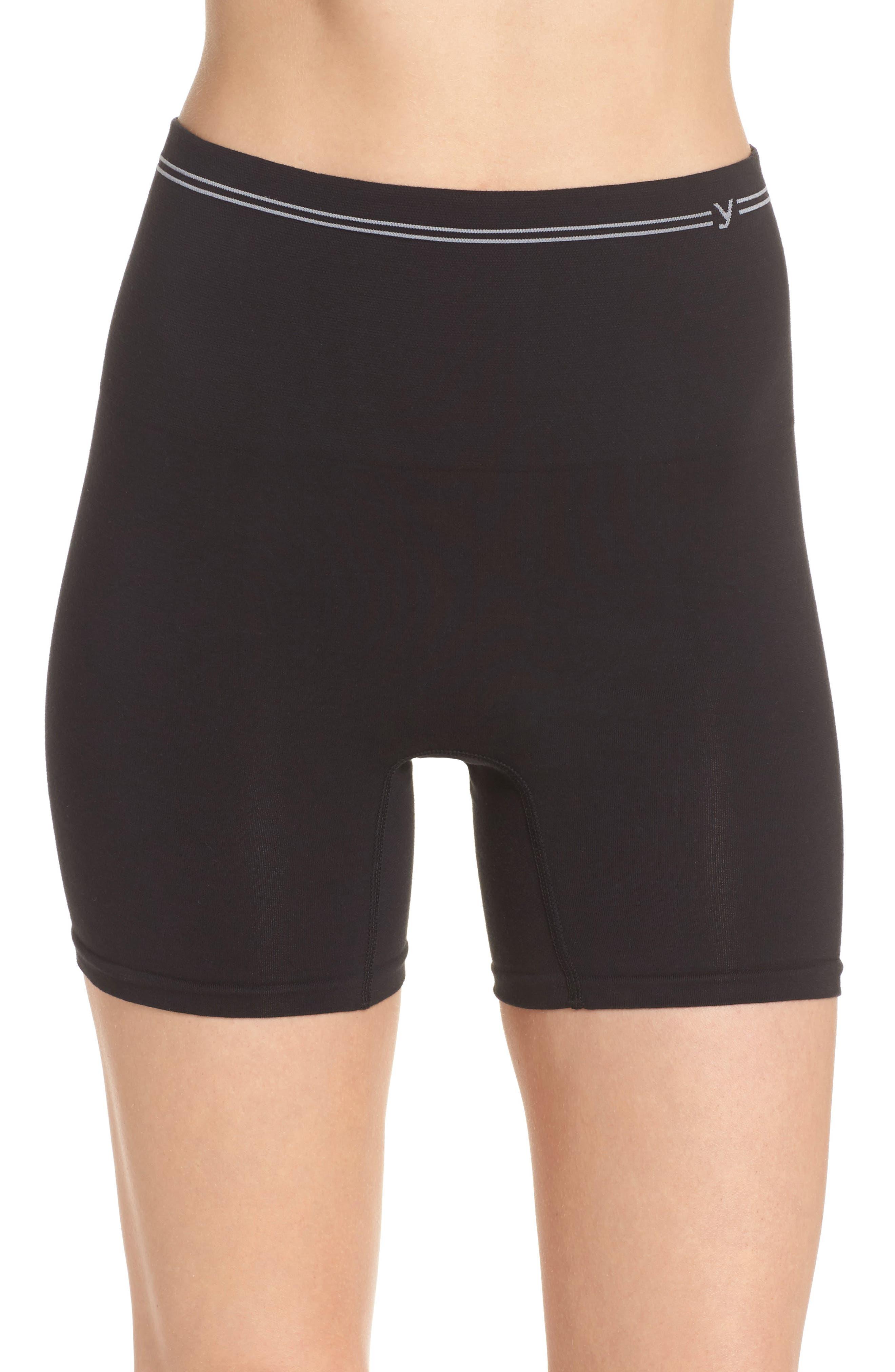 YUMMIE,                             Seamless Shaping Shorts,                             Main thumbnail 1, color,                             001