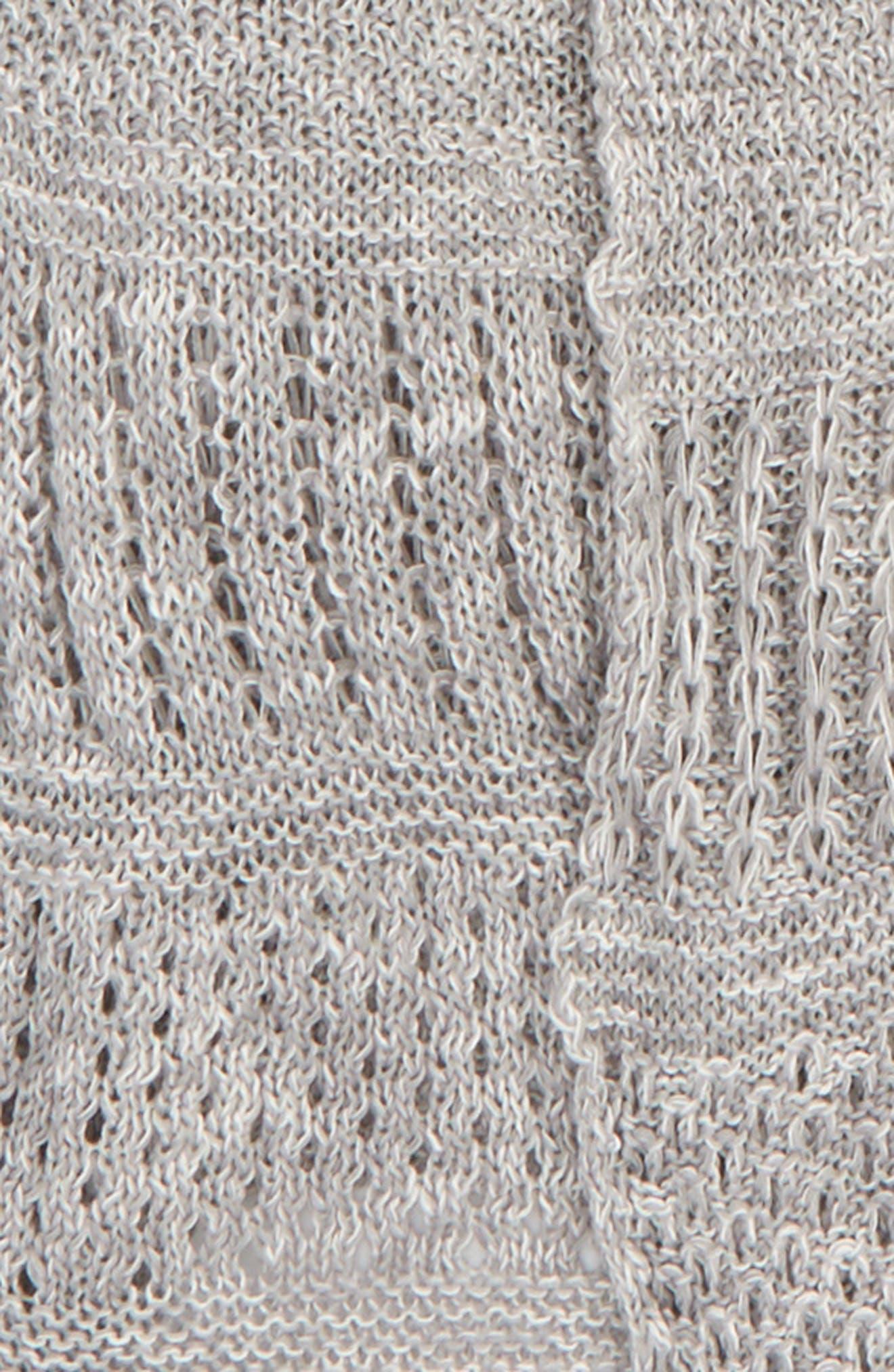 Helm Open Stitch Longline Cardigan,                             Alternate thumbnail 4, color,                             020