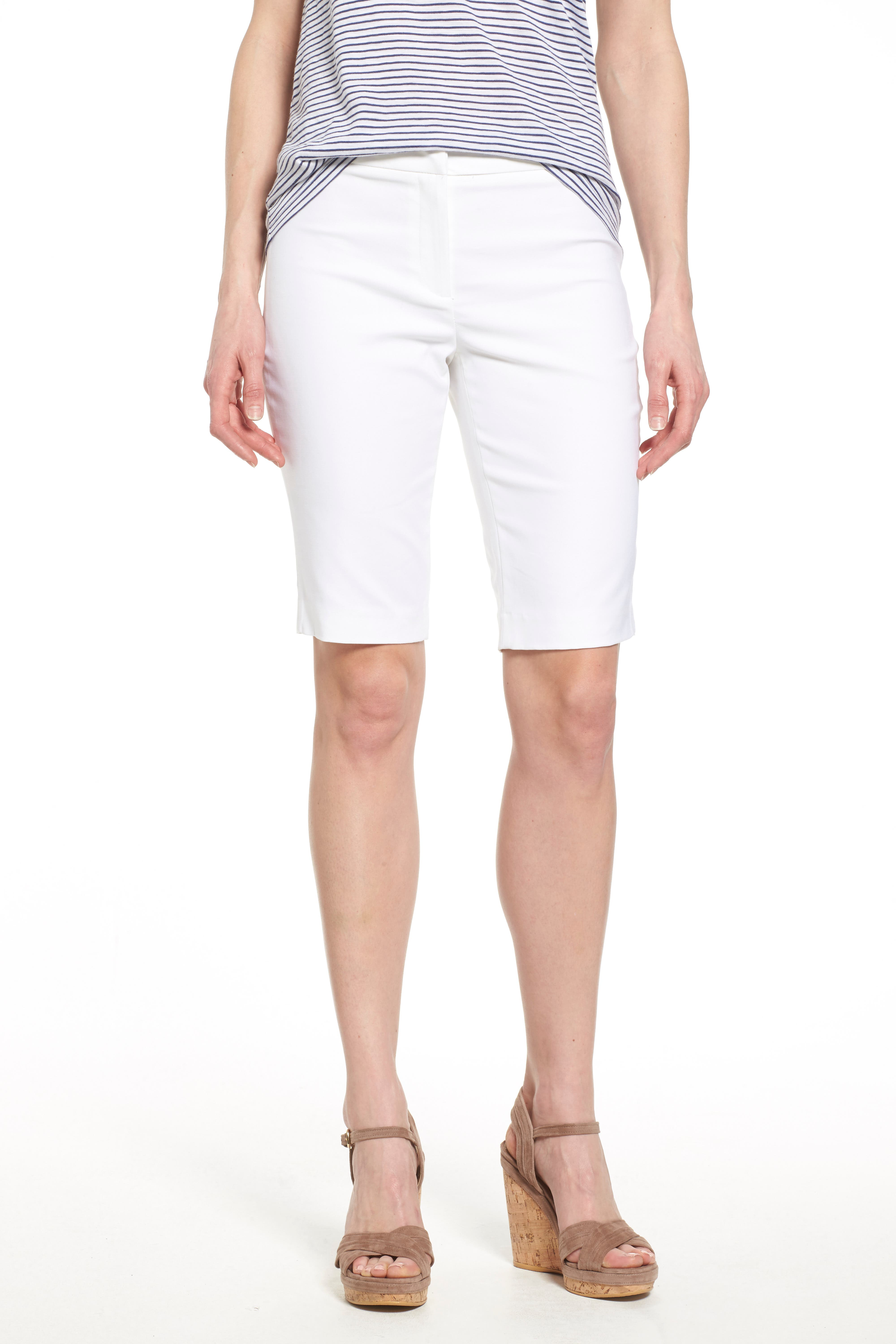 'The Perfect' Stretch Woven Trouser Shorts,                             Alternate thumbnail 5, color,                             PAPER WHITE