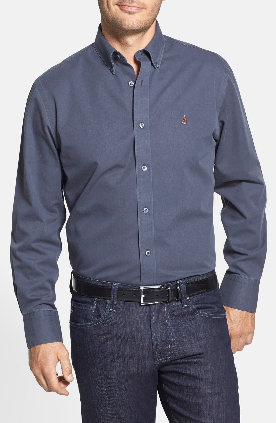 Smartcare<sup>™</sup> Traditional Fit Twill Boat Shirt,                             Main thumbnail 19, color,
