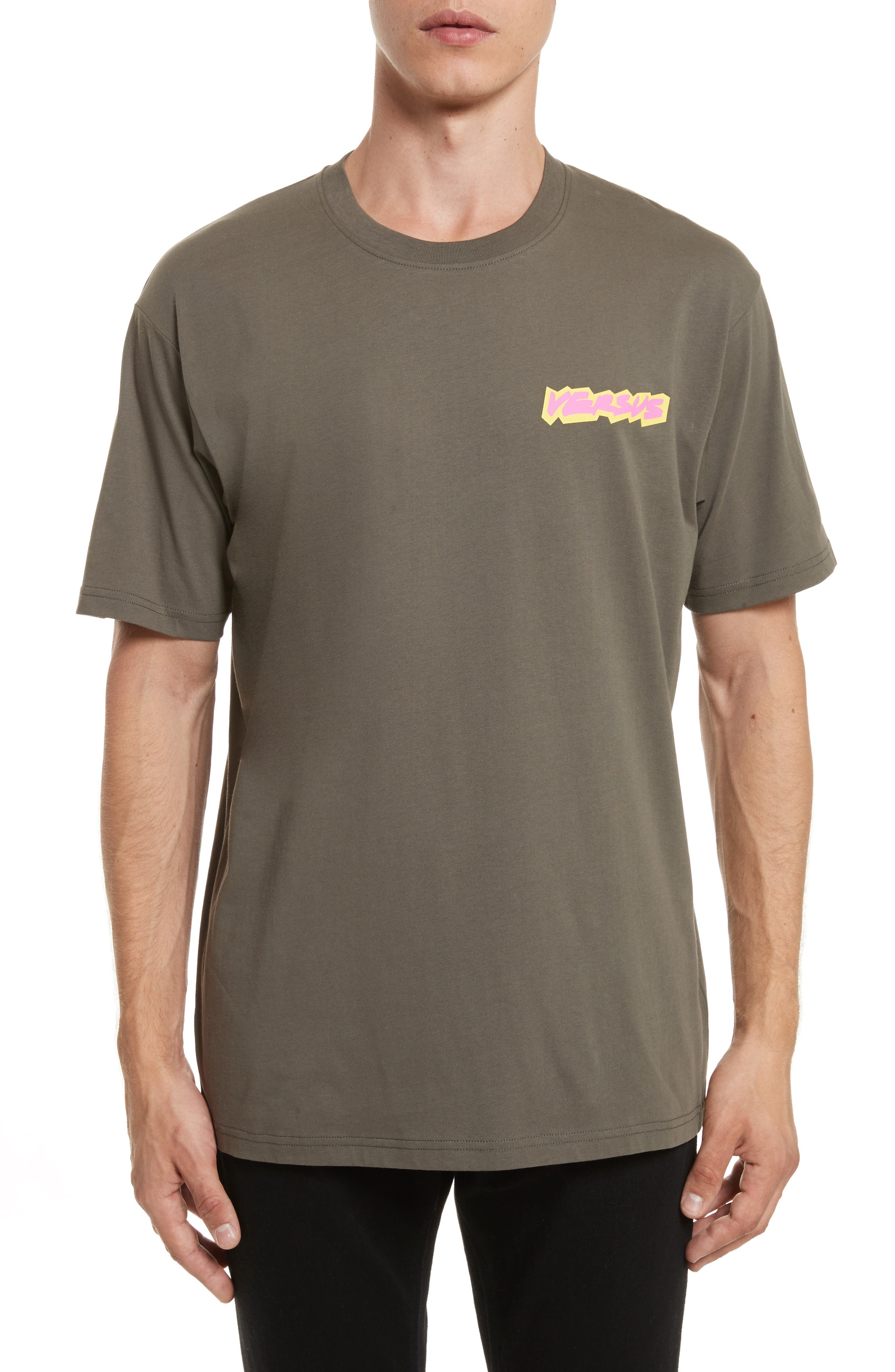 VERSUS by Versace Logo Graphic T-Shirt,                             Main thumbnail 1, color,                             344