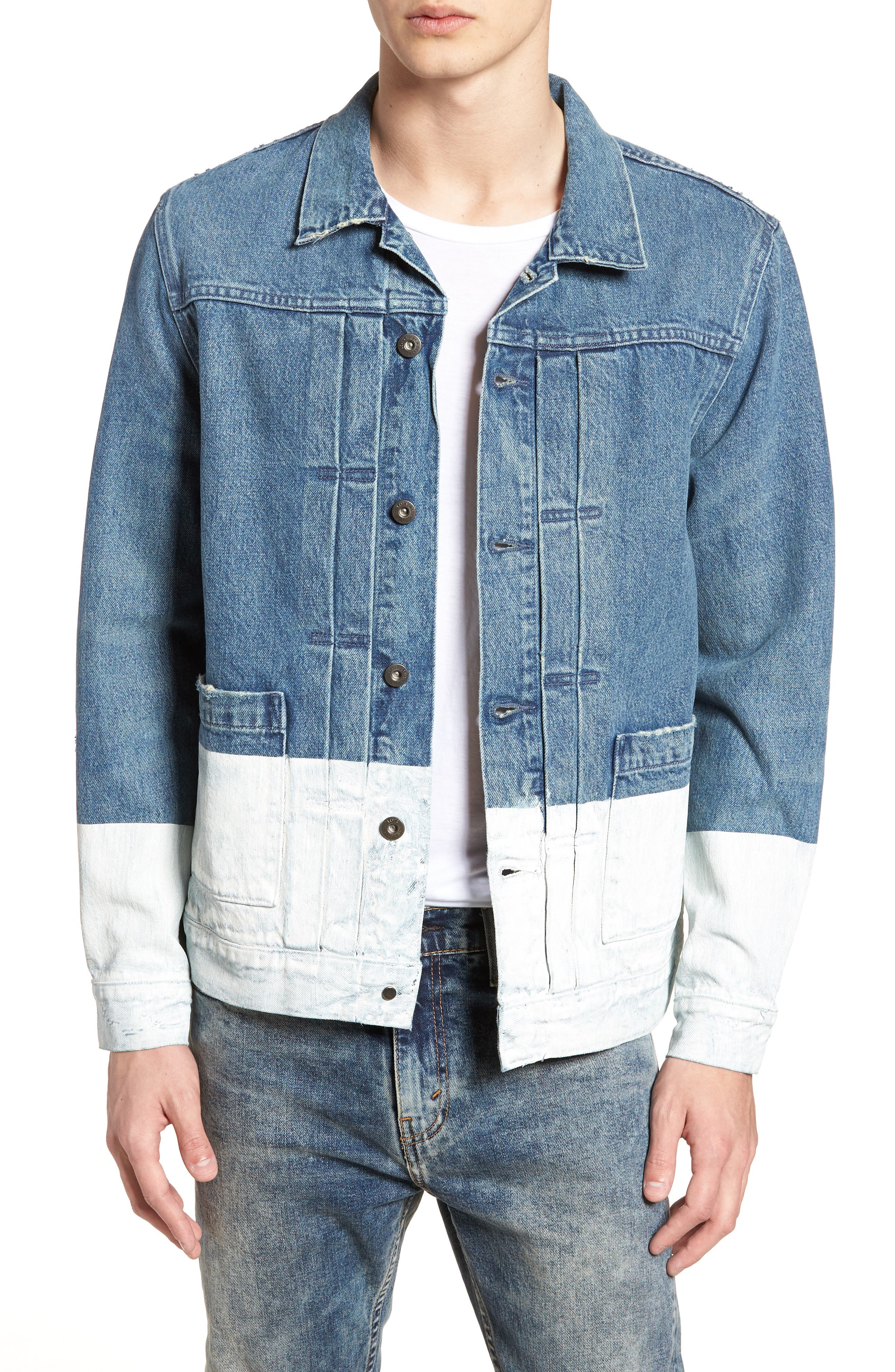 Type IV Standard Fit Trucker Denim Jacket,                             Main thumbnail 1, color,                             HORSESHOE