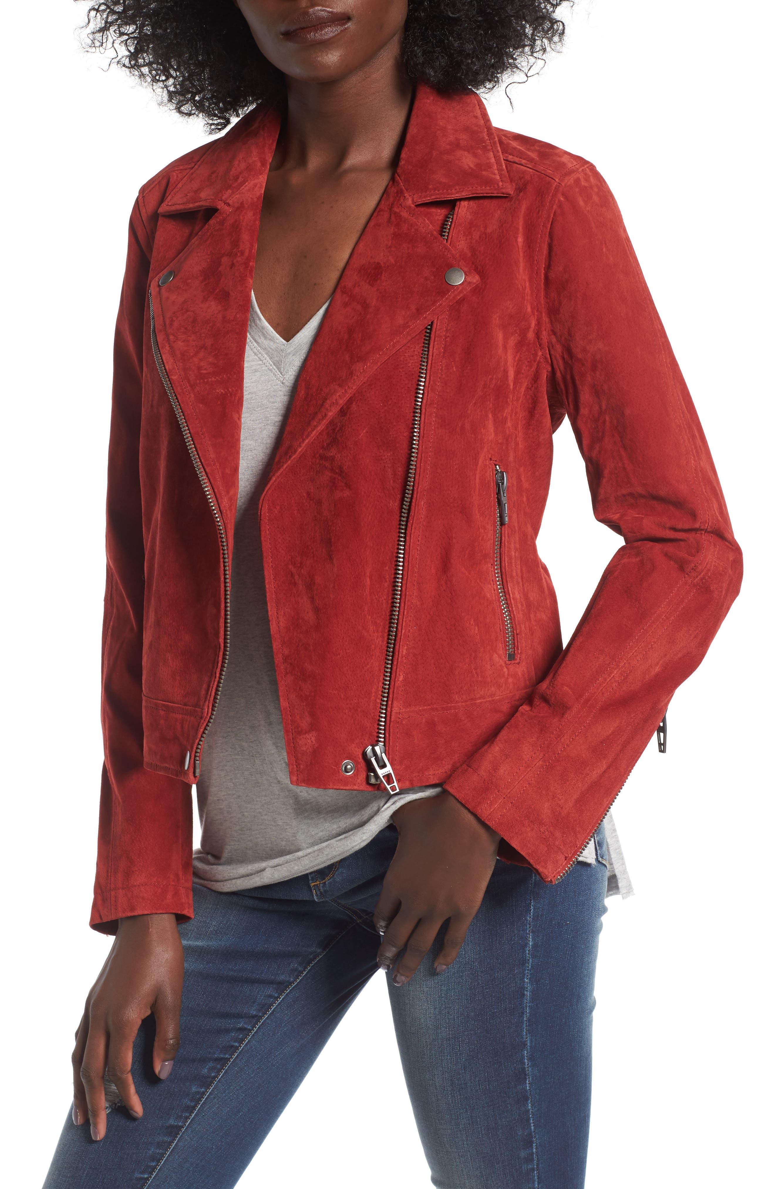 Suede Moto Jacket,                             Main thumbnail 8, color,