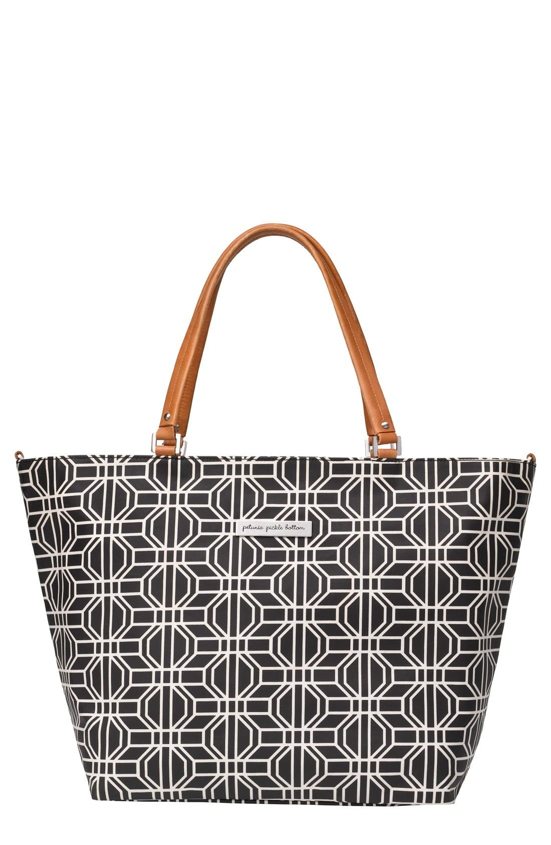'Downtown' Glazed Canvas Tote,                             Main thumbnail 1, color,                             001