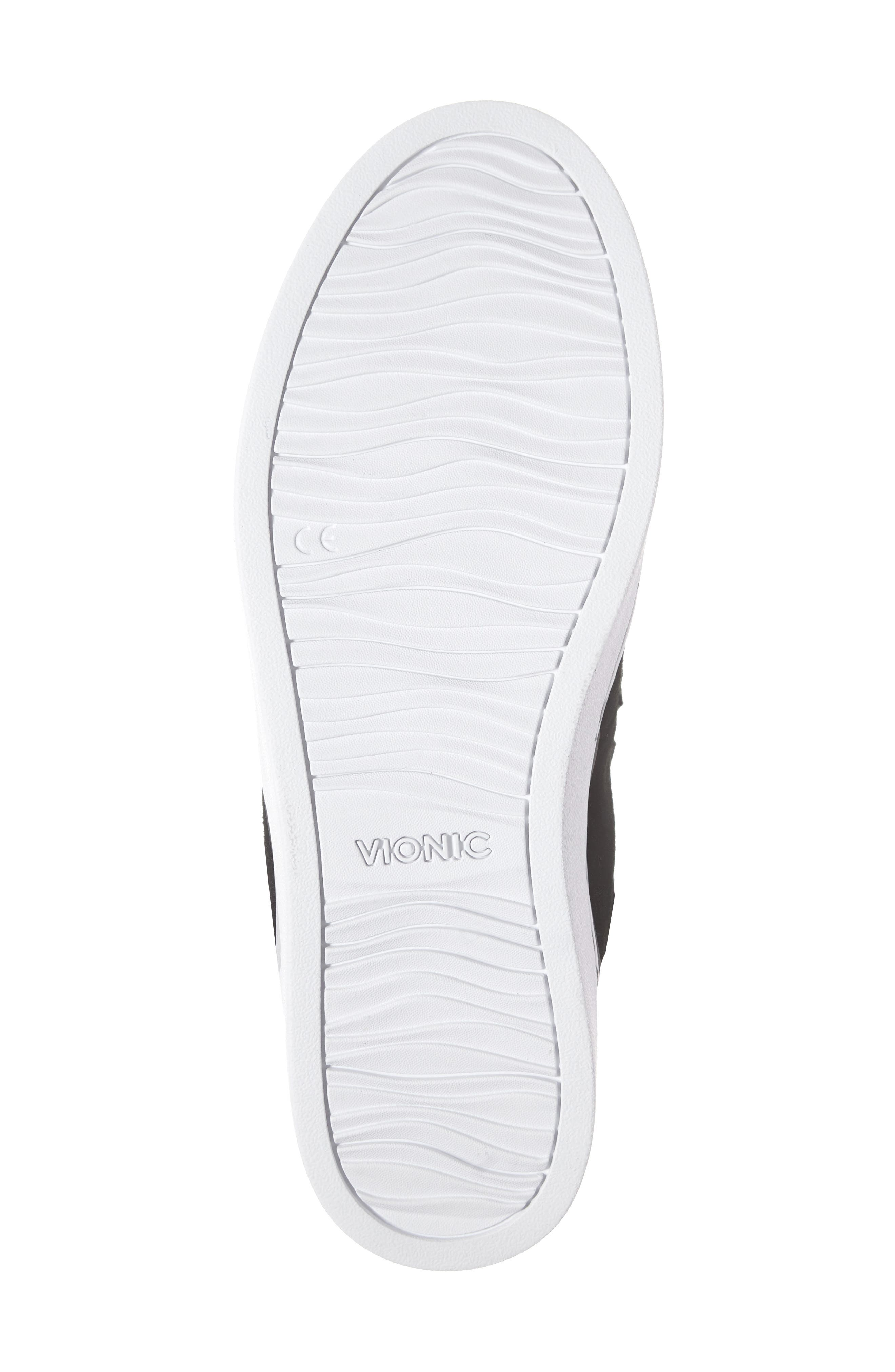 Oak Genuine Shearling Cuff Sneaker Bootie,                             Alternate thumbnail 6, color,                             BLACK SUEDE