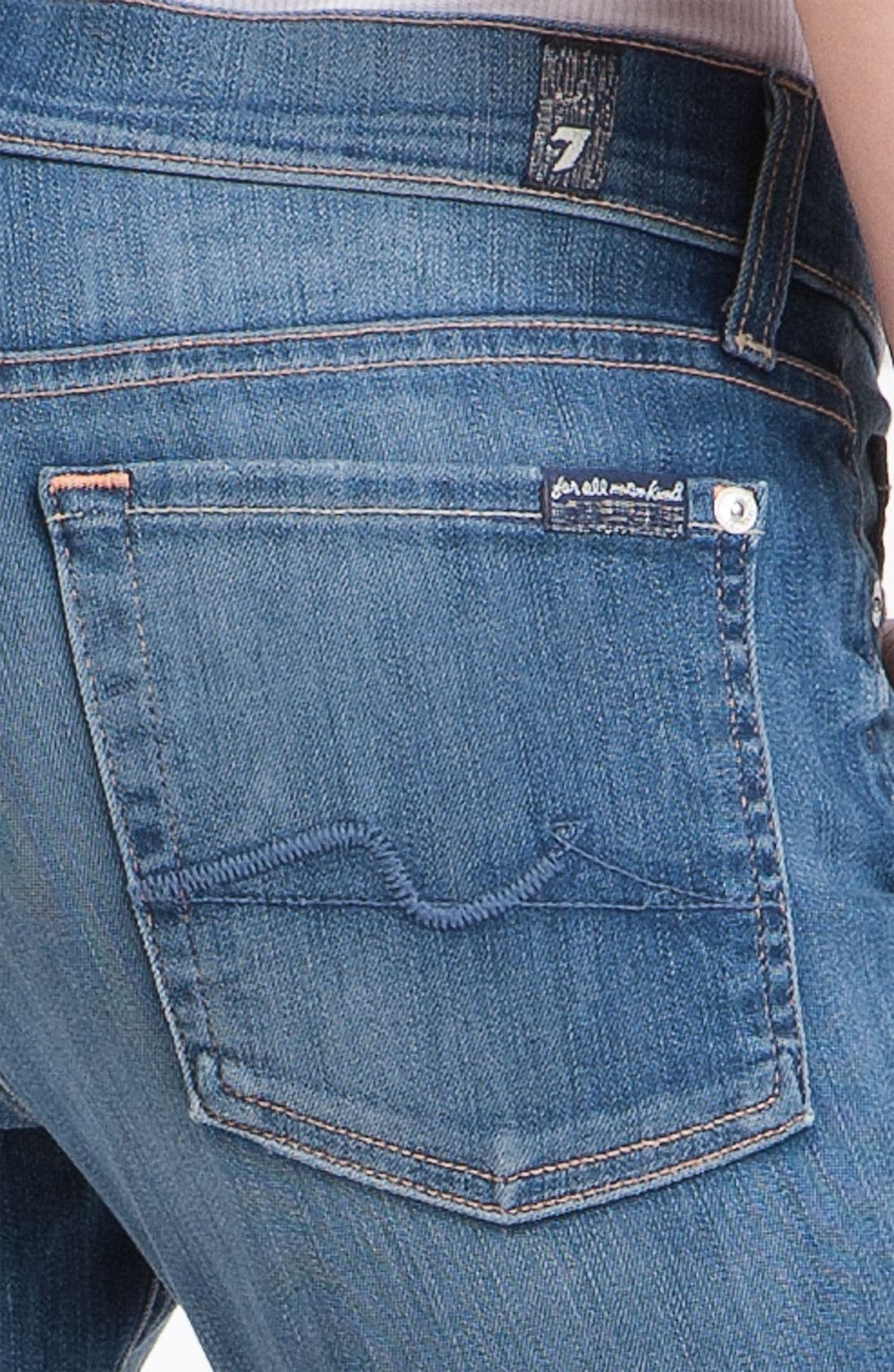 7 FOR ALL MANKIND<SUP>®</SUP>,                             'Gwenevere' Skinny Jeans,                             Alternate thumbnail 3, color,                             400
