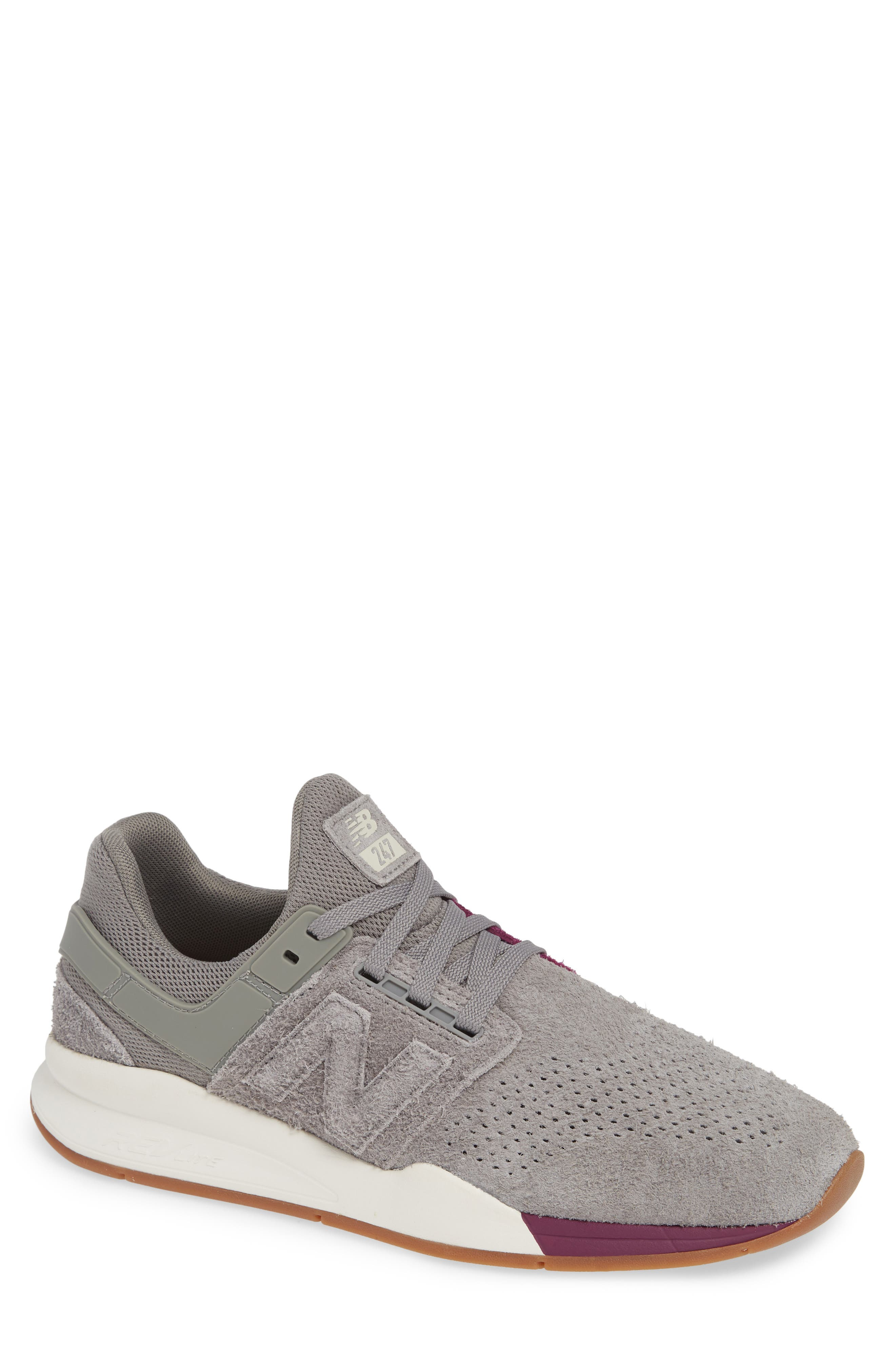 247 Suede Sneaker,                             Main thumbnail 1, color,                             MARBLEHEAD SUEDE