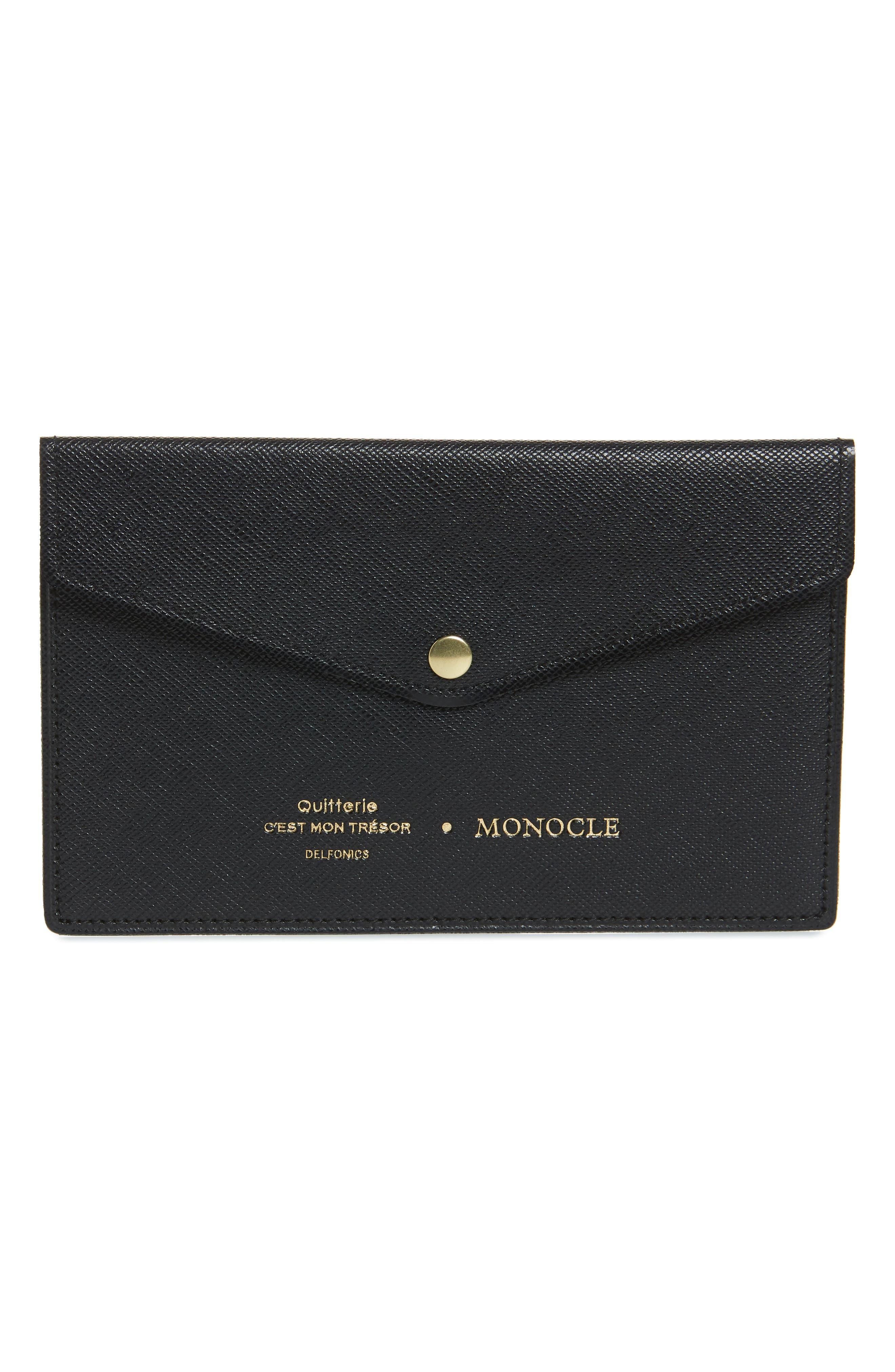 x Delfonics Passbook Case,                         Main,                         color, BLACK