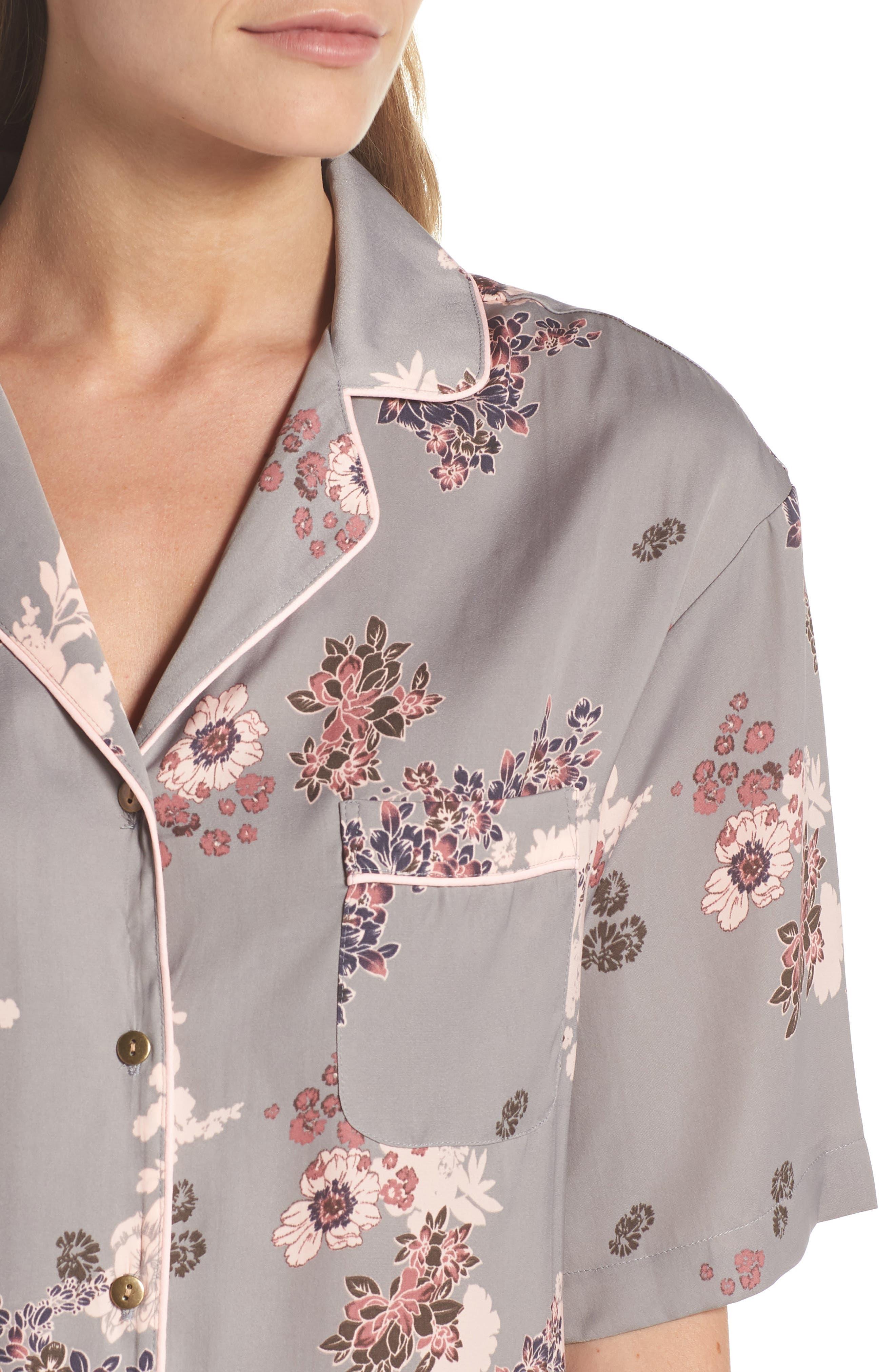 NORDSTROM LINGERIE,                             Matte Satin Pajamas,                             Alternate thumbnail 4, color,                             030