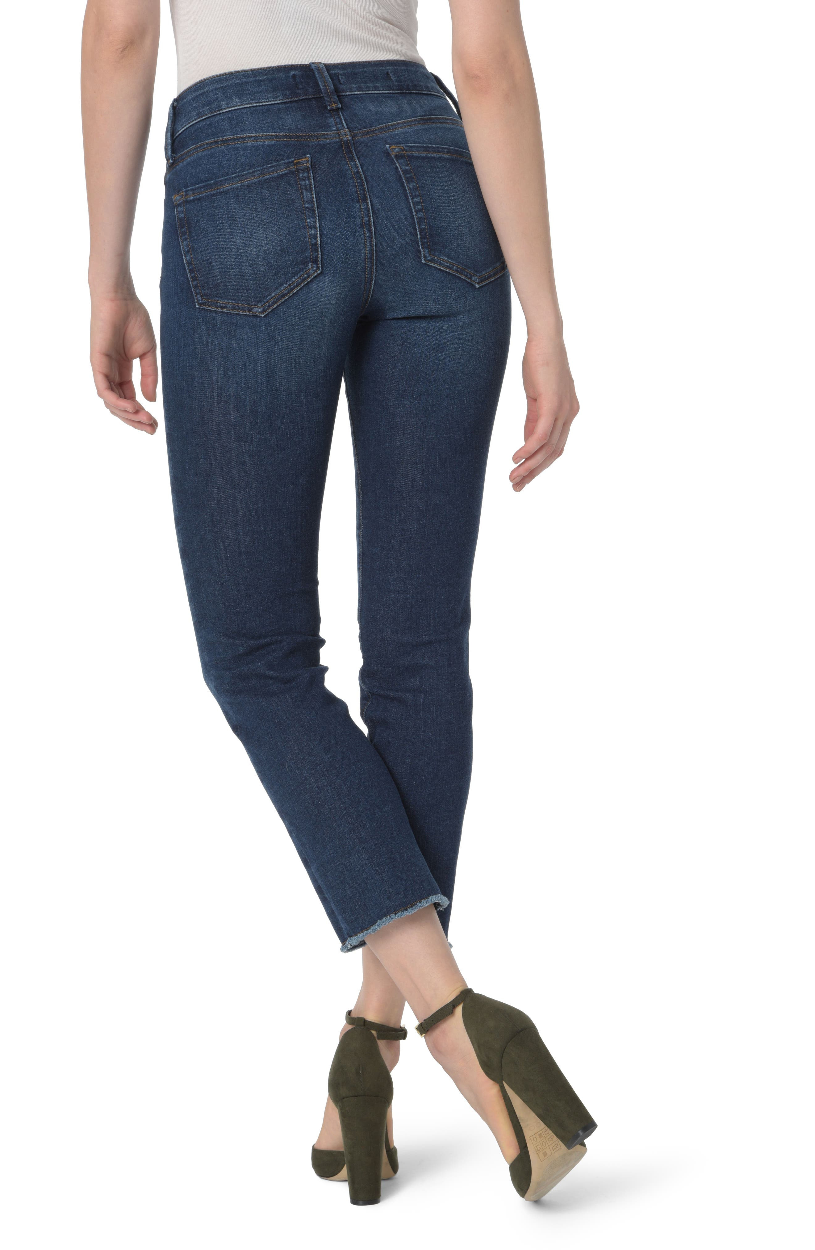 Sheri High Waist Frayed Hem Slim Ankle Jeans,                             Alternate thumbnail 2, color,                             COOPER