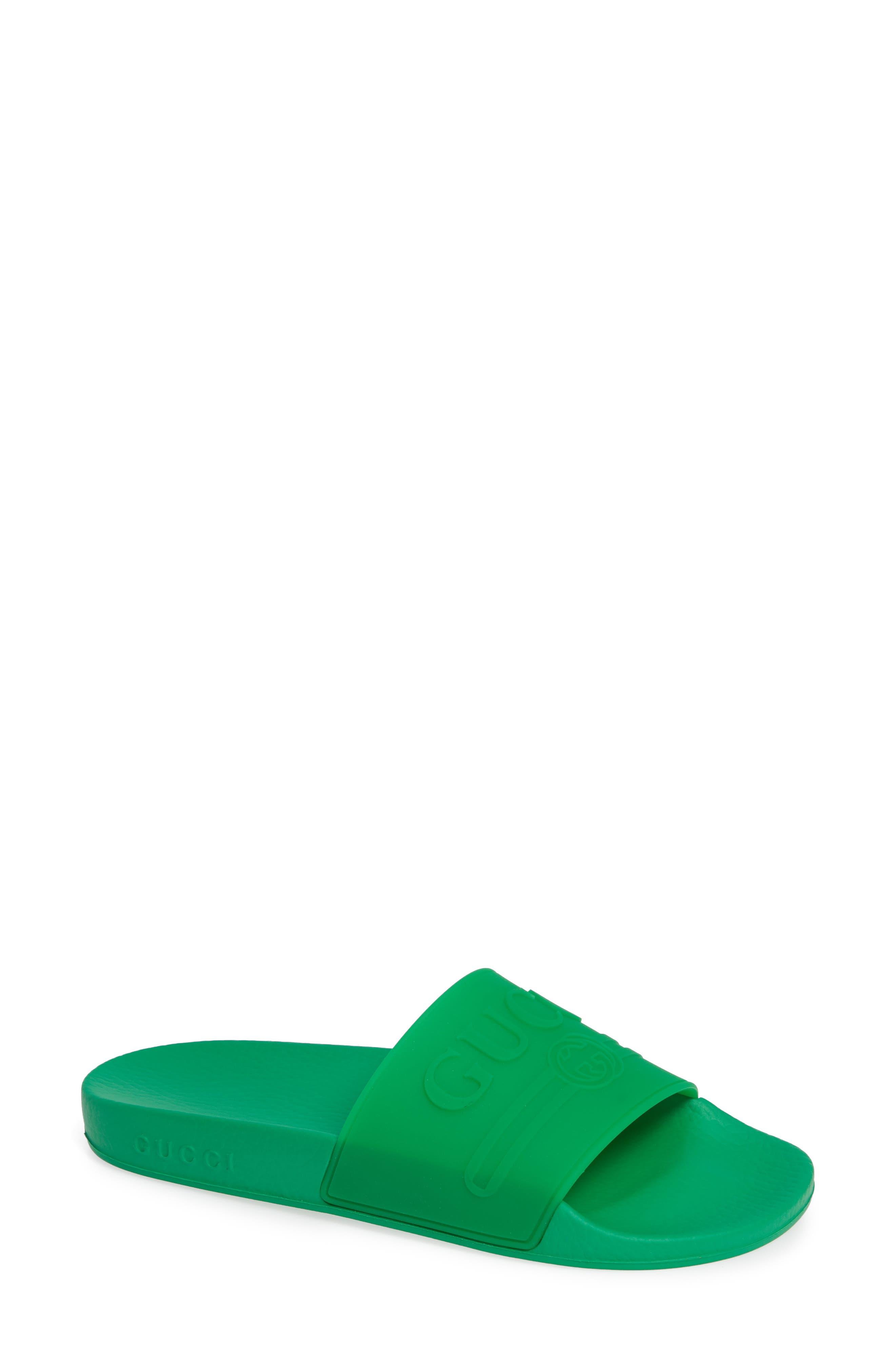 9f990653c7c3d Gucci Women s Pursuit Rubber Slide Sandals In 3023 Verde