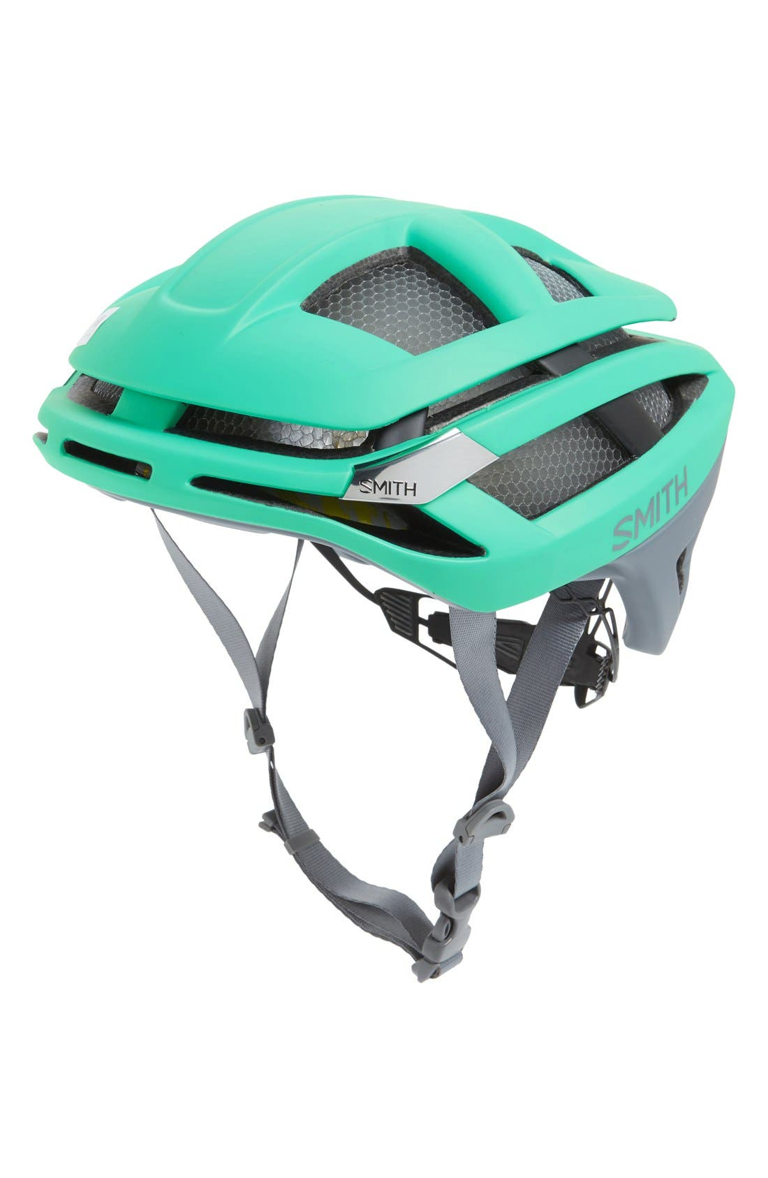 'Overtake with MIPS' Biking Racer Helmet,                         Main,                         color, MATTE OPAL/ CHARCOAL