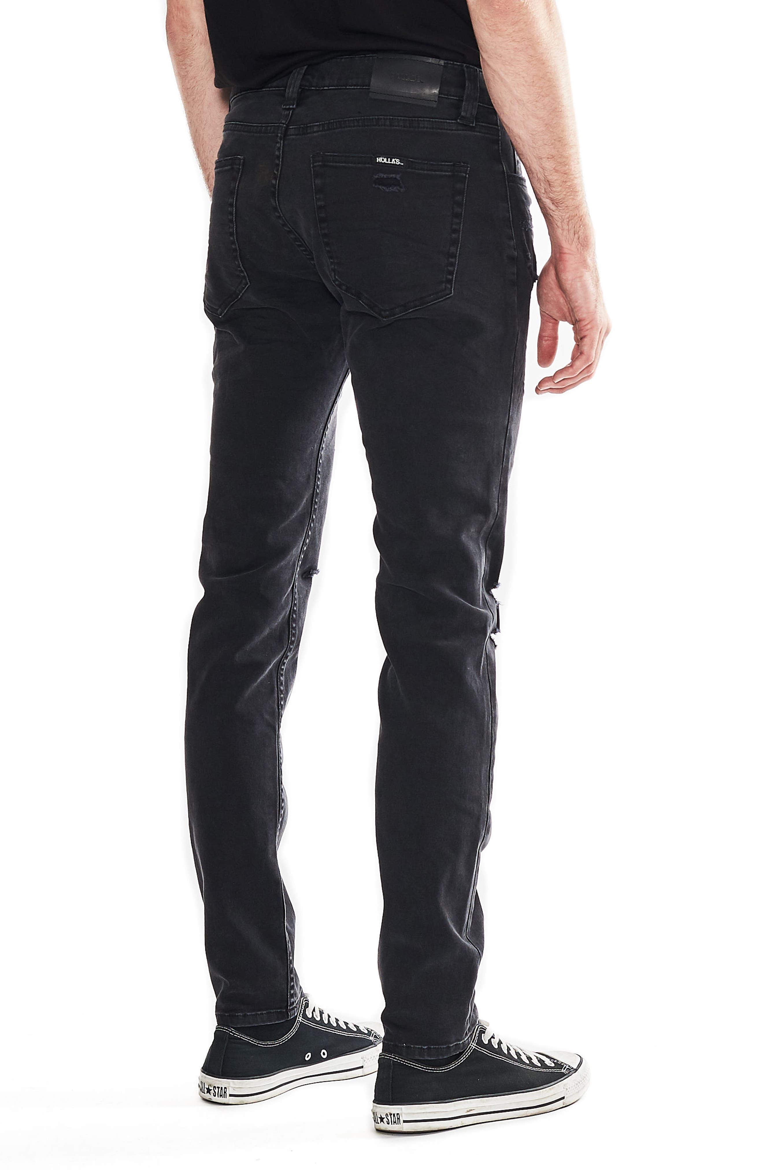 Stinger Skinny Fit Jeans,                             Alternate thumbnail 4, color,                             BLOWOUT BLACK