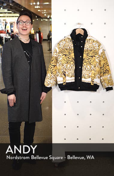 Chain Print Puffer Jacket, sales video thumbnail