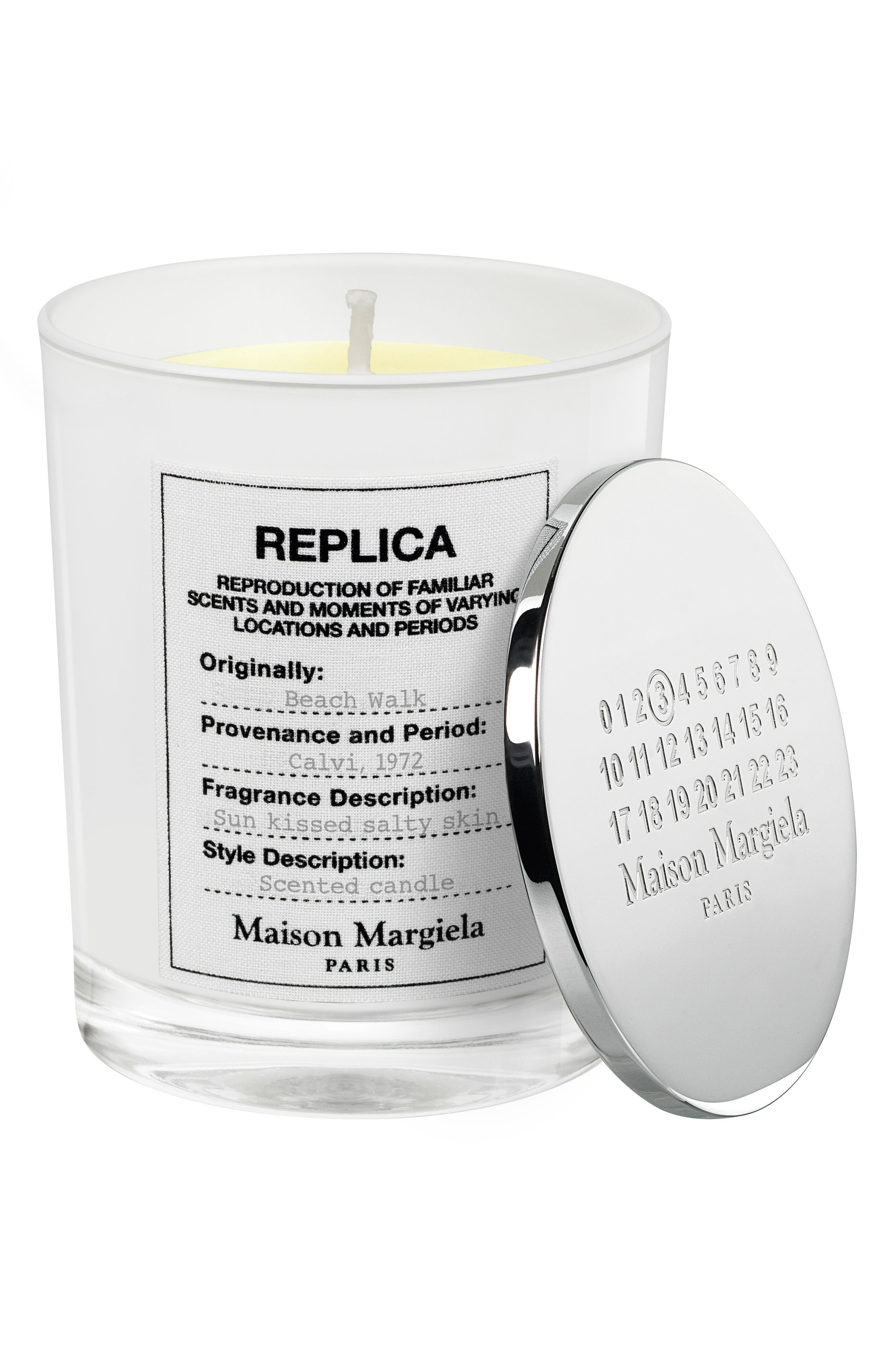 Replica Beach Walk Scented Candle,                             Alternate thumbnail 2, color,                             000