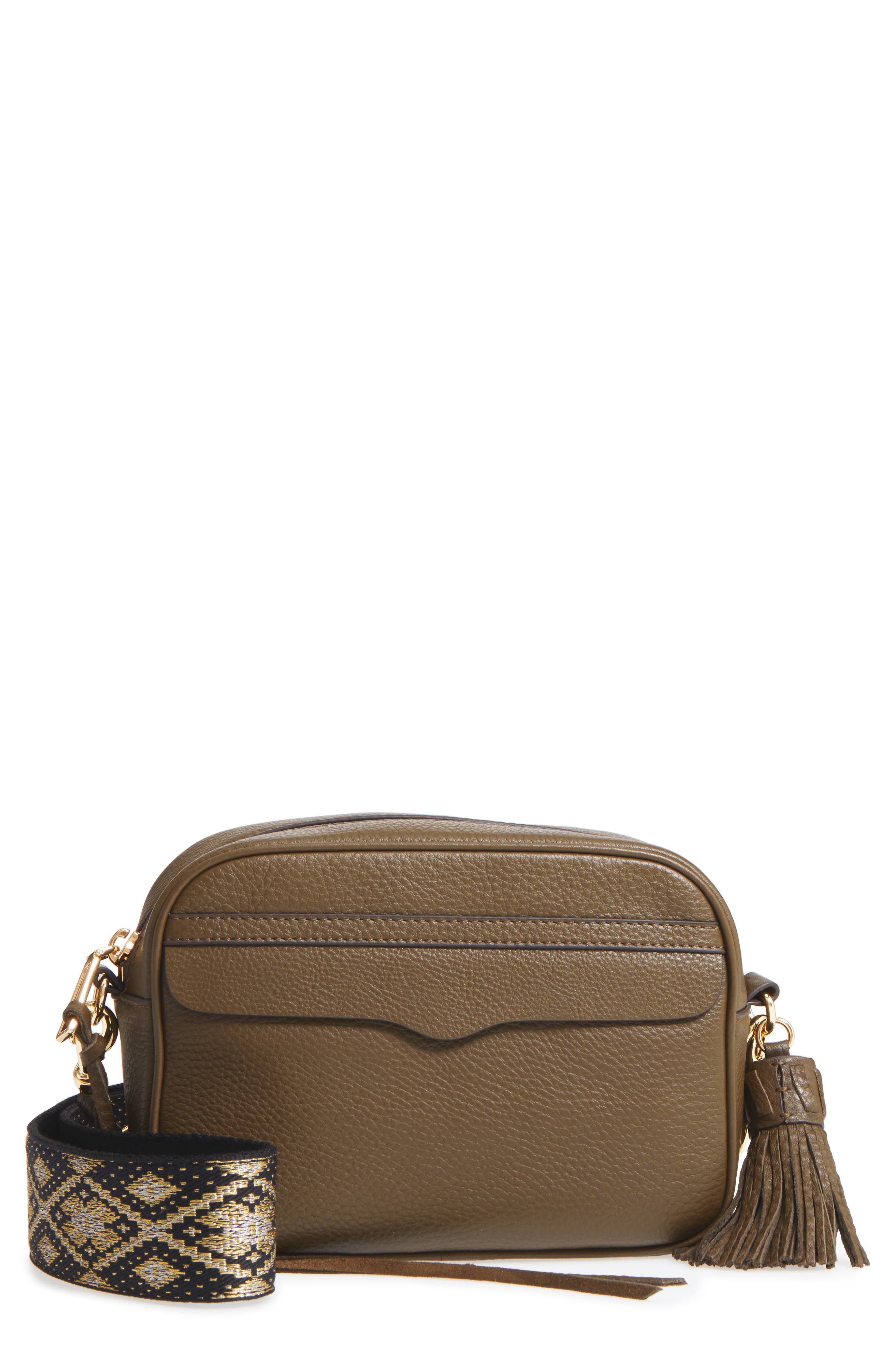 Leather Camera Bag with Guitar Strap,                             Main thumbnail 3, color,