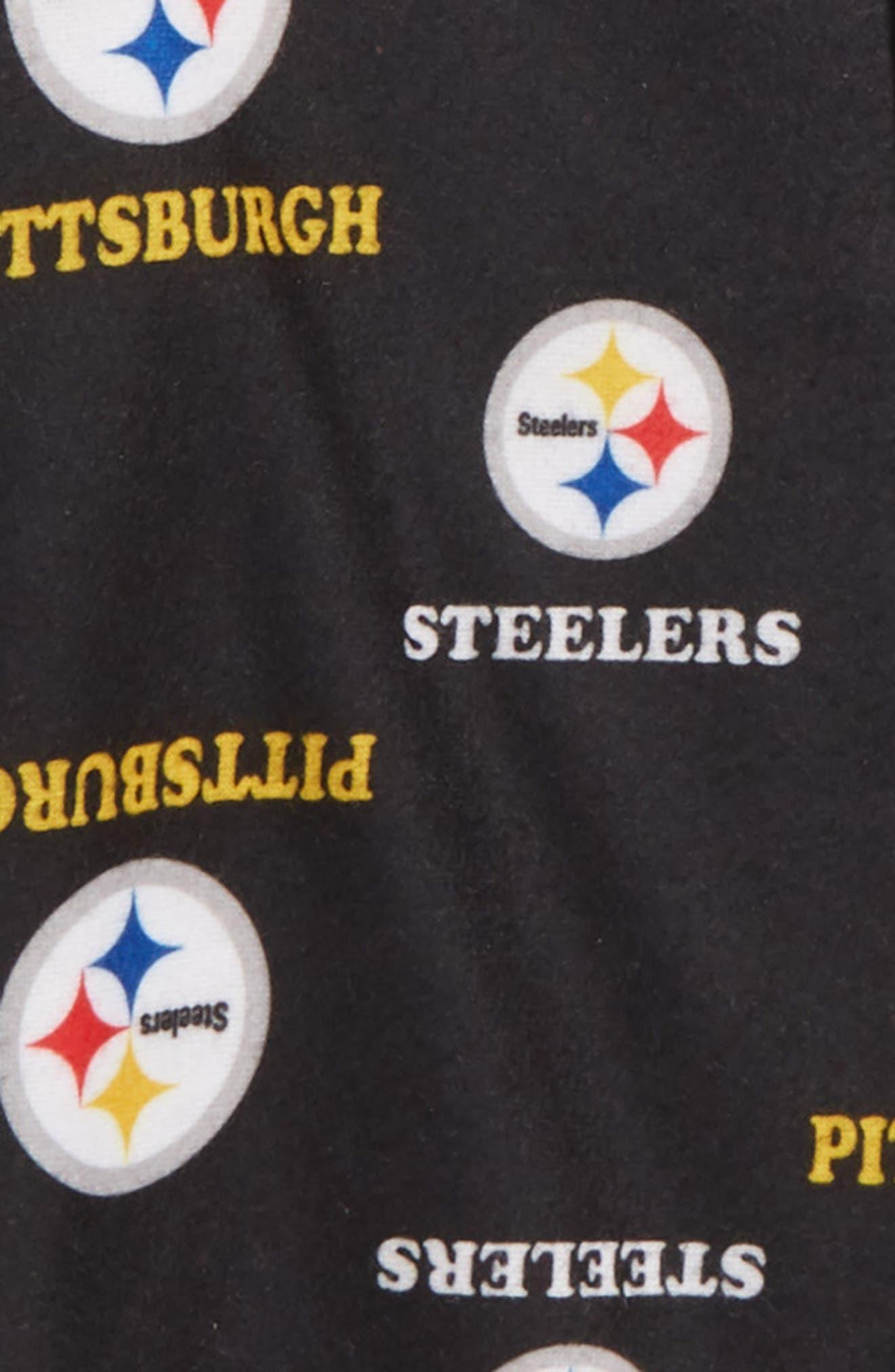 NFL Team Logo Footie,                             Alternate thumbnail 2, color,                             PS BLACK
