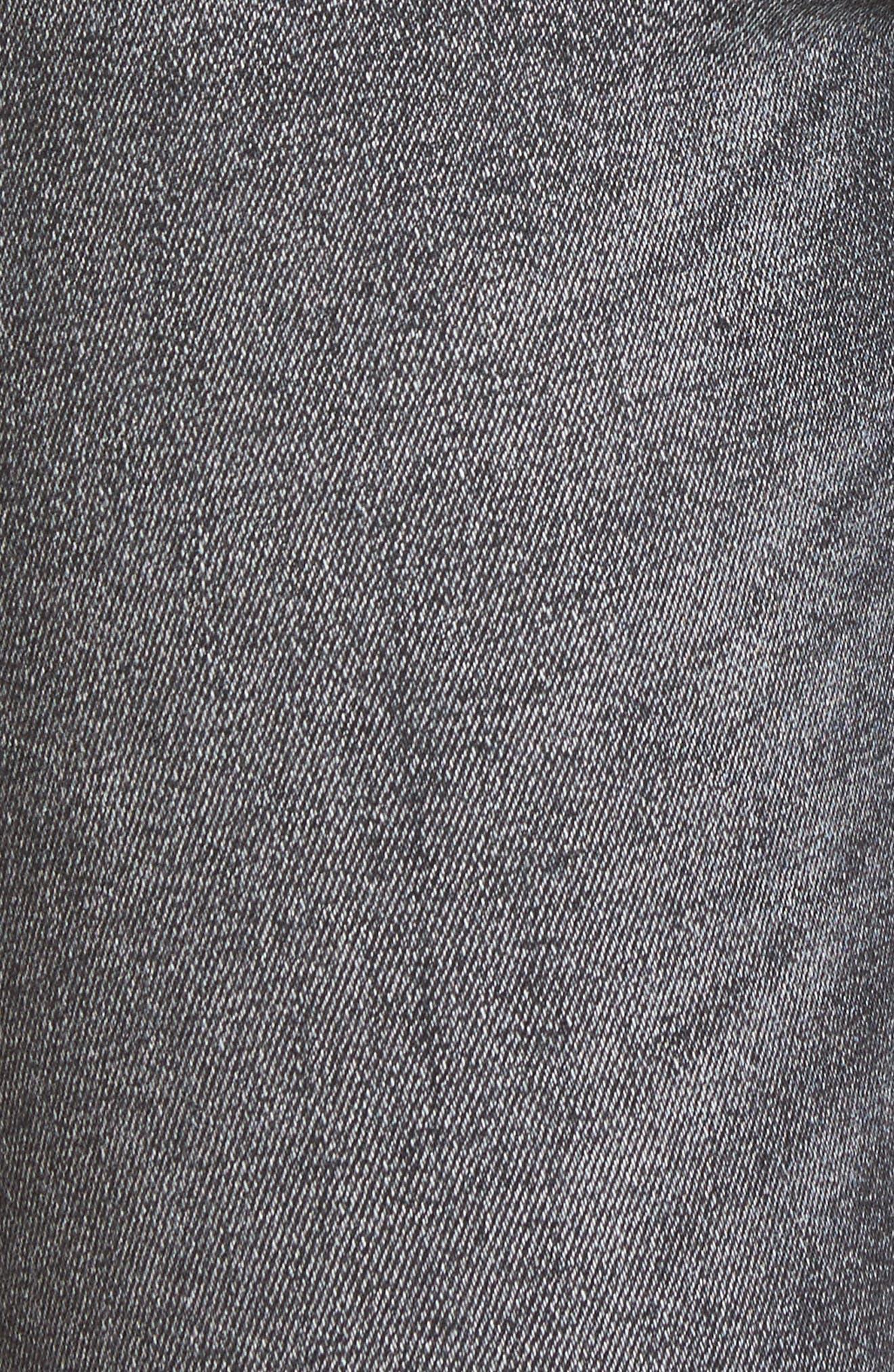 Farrow Ripped Ankle Jeans,                             Alternate thumbnail 6, color,                             LIGHT SMOKE