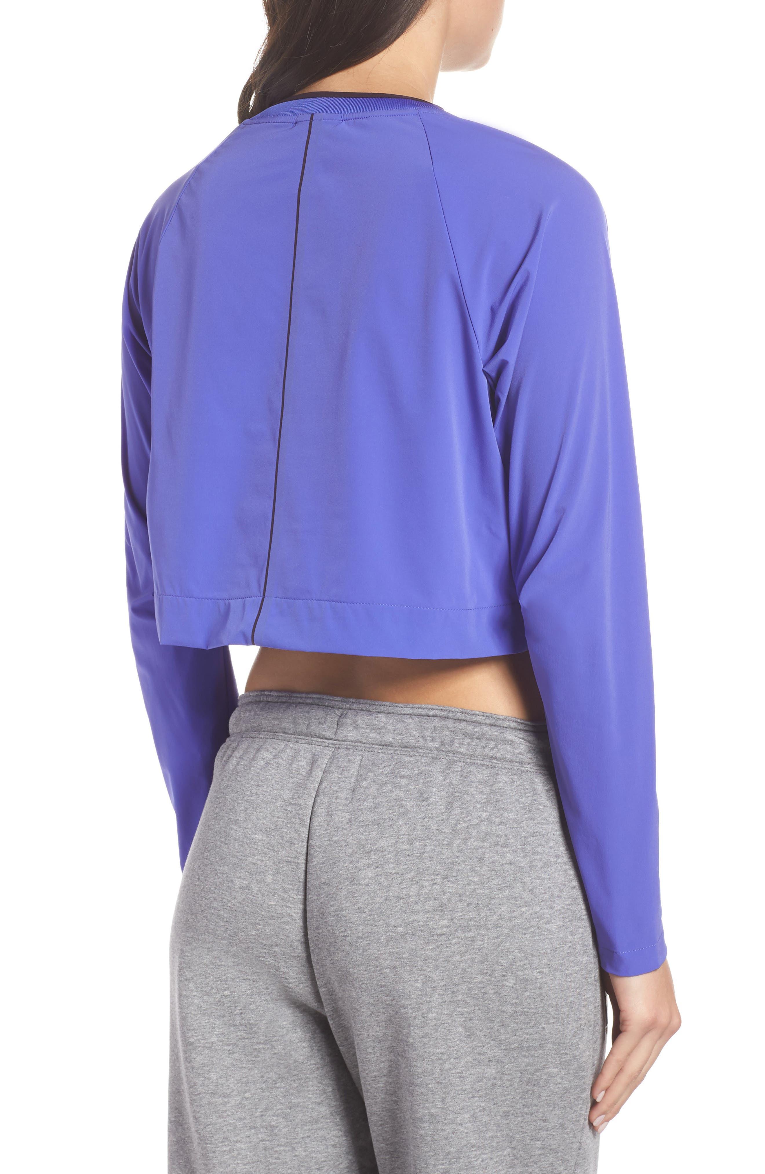 Sportswear Tech Pack Women's Long Sleeve Top,                             Alternate thumbnail 2, color,                             PERSIAN VIOLET/ BURGUNDY ASH