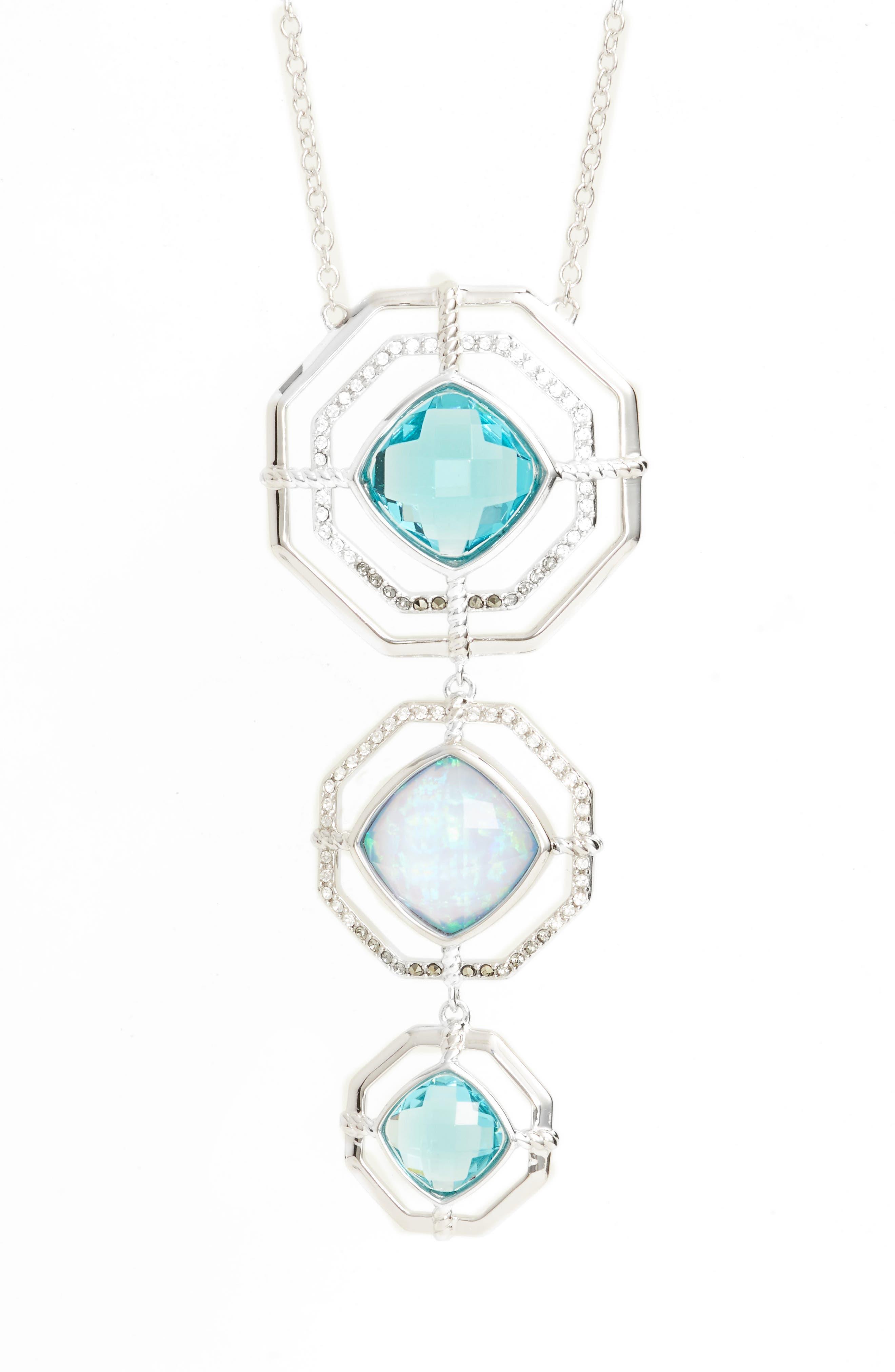 Paradise Tiered Pendant Necklace,                             Main thumbnail 1, color,                             040