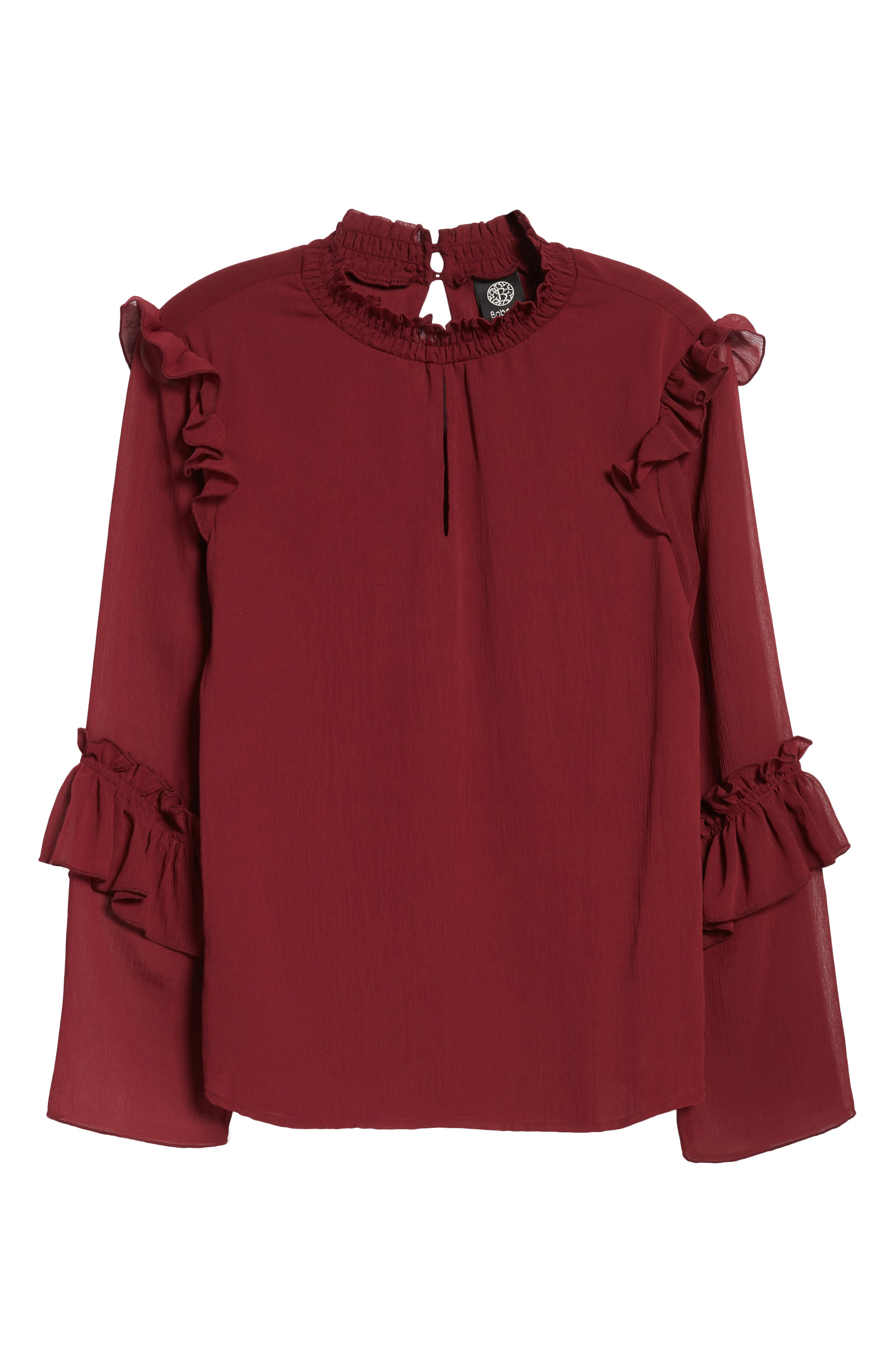 Ruffle Sleeve Blouse,                             Alternate thumbnail 12, color,