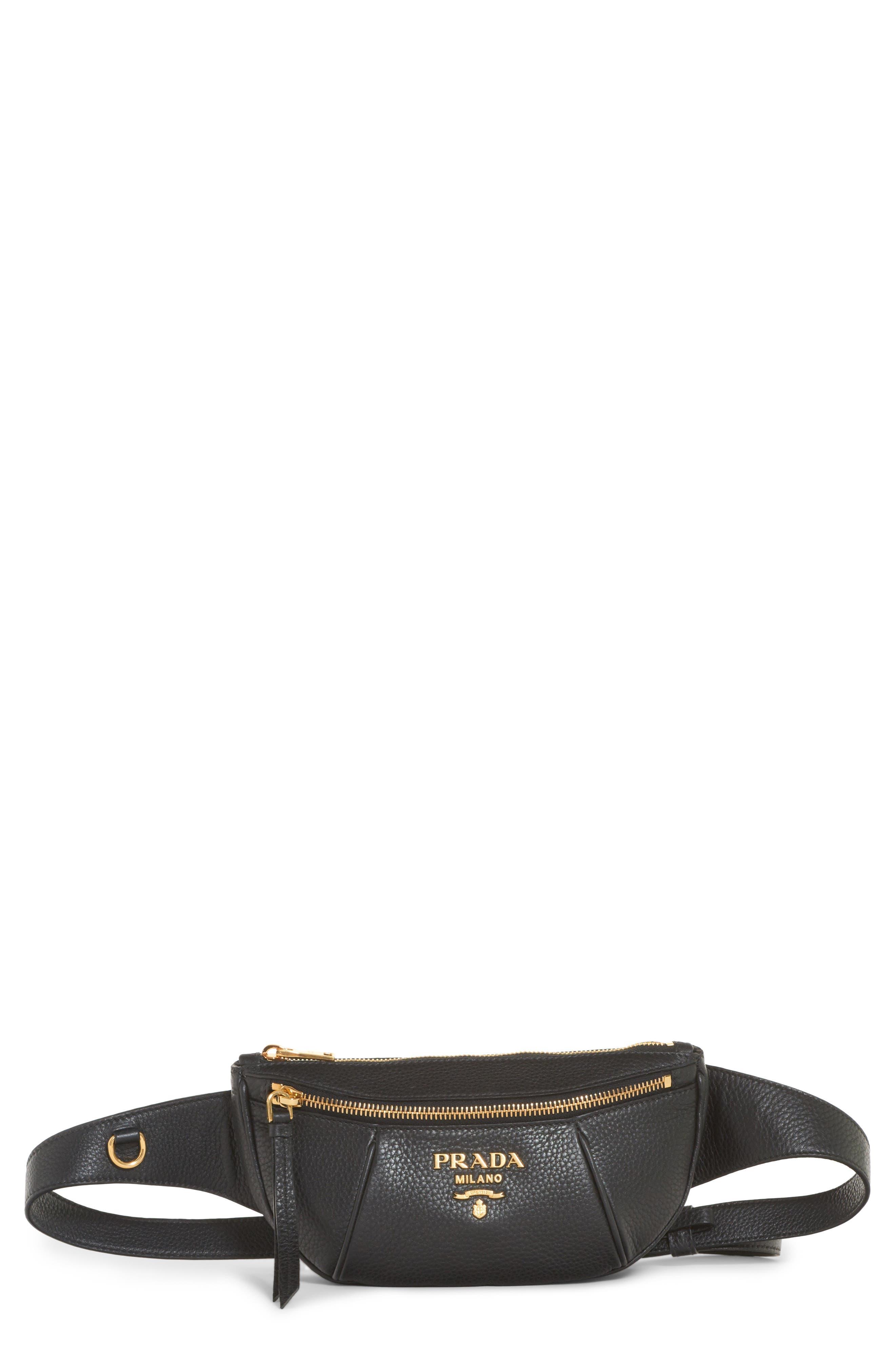Daino Leather Belt Bag,                         Main,                         color, 001