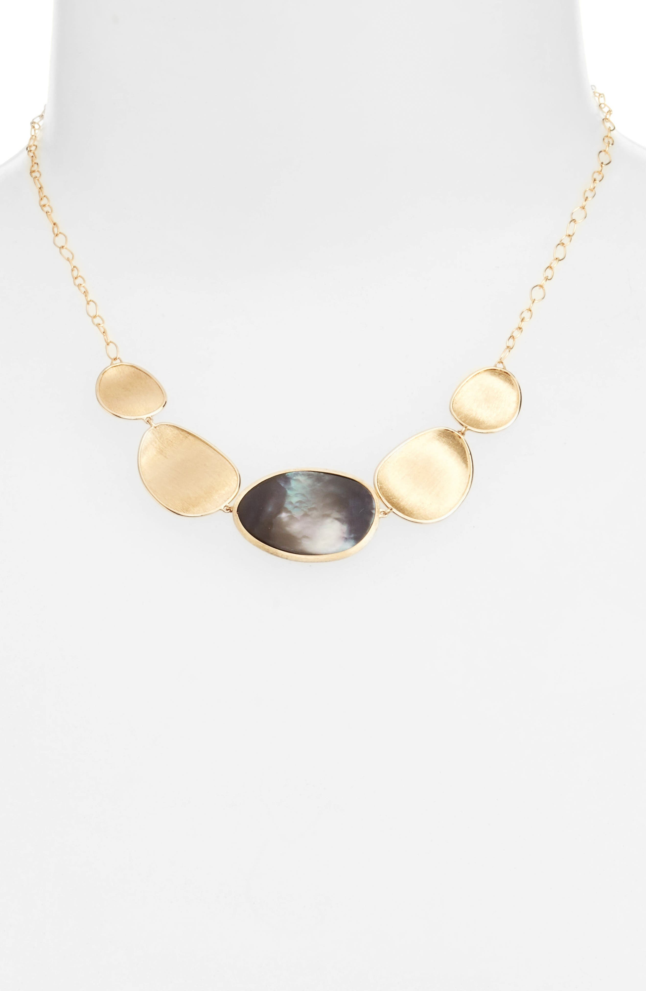 Lunaria Collar Necklace,                             Alternate thumbnail 2, color,                             GREY MOTHER OF PEARL