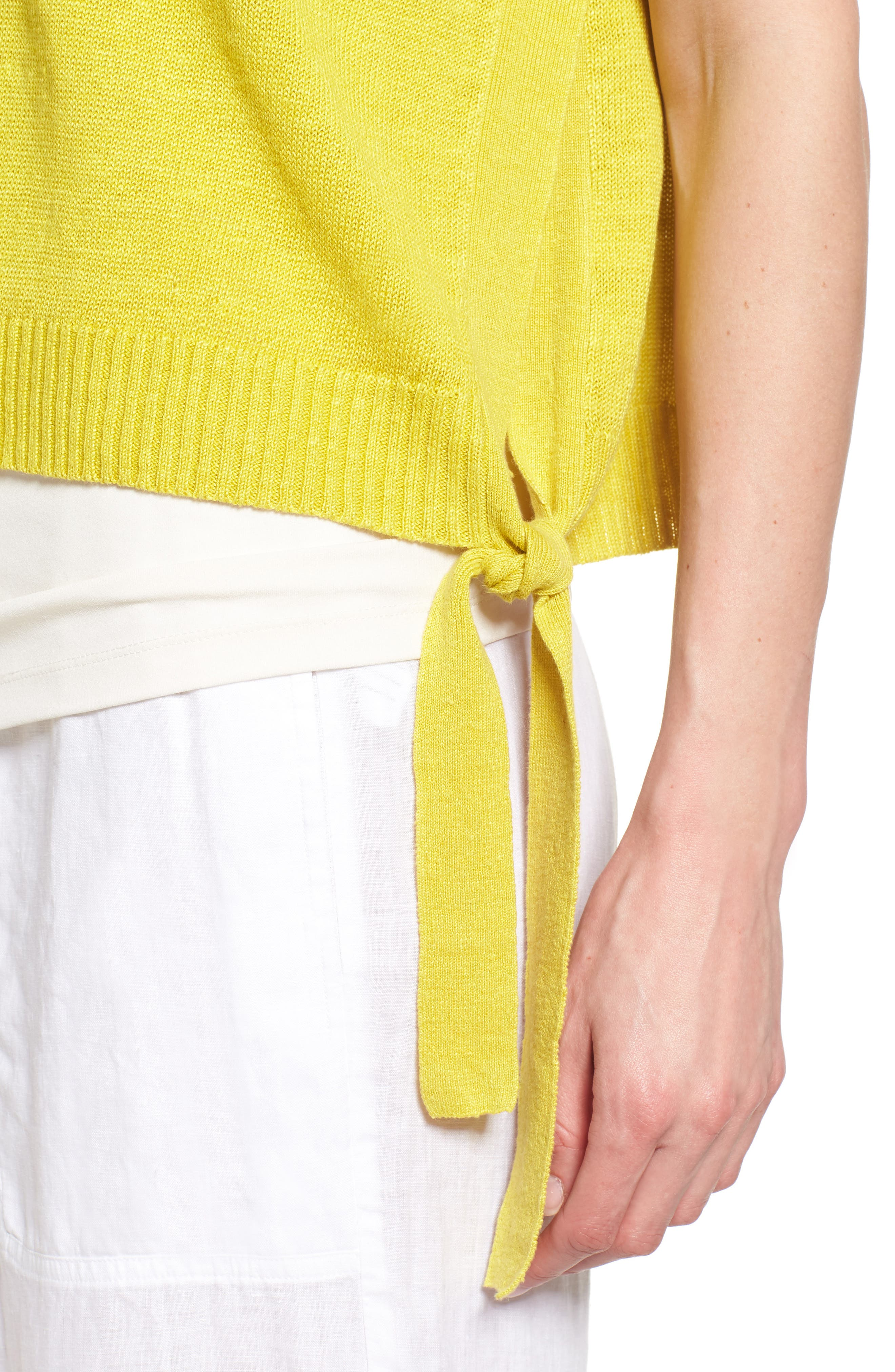 Short Organic Linen Poncho Top,                             Alternate thumbnail 21, color,