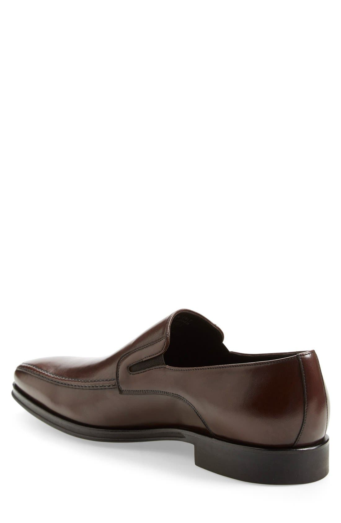 Lucca Nappa Leather Loafer,                             Alternate thumbnail 2, color,                             BROWN