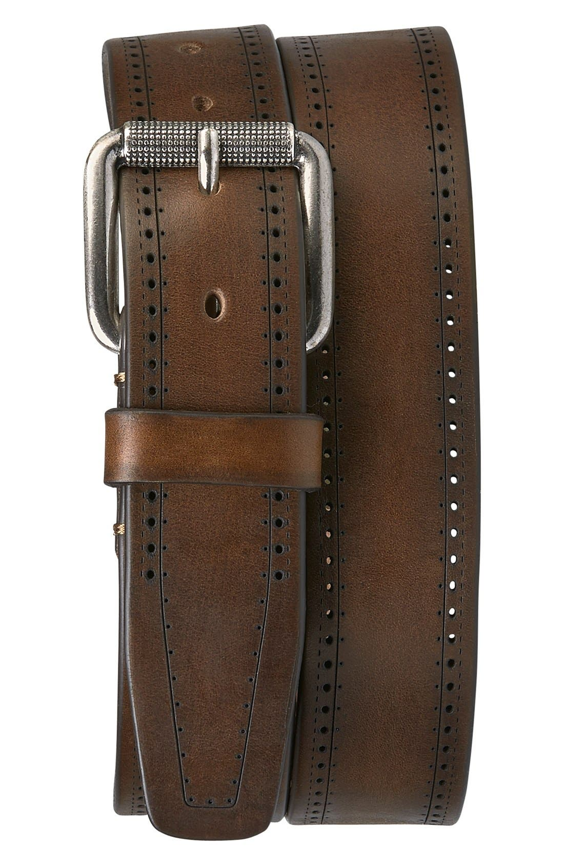 'Vaughn' Leather Belt,                             Main thumbnail 1, color,                             200